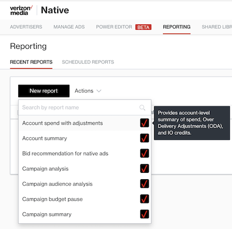 reporting types