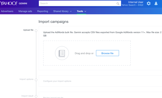 import campaigns upload file