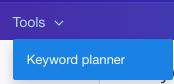 tools menu dropdown
