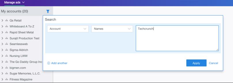 power editor click accounts