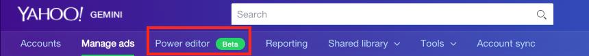 power editor tab .