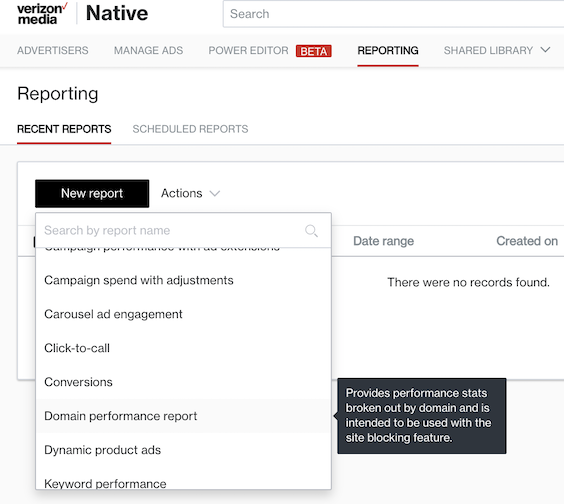 domain performance report