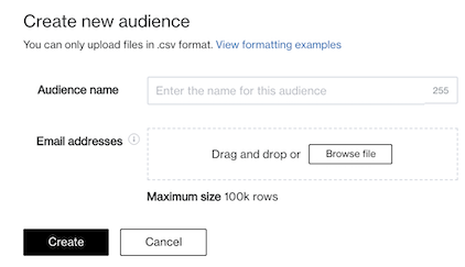 audience name create