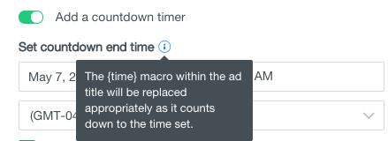 add countdown timer