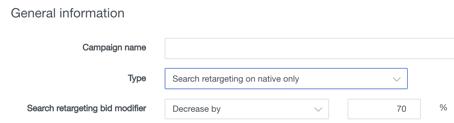bid modifier search retarget