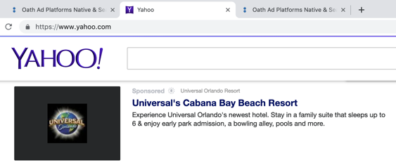 universal yahoo ad preview