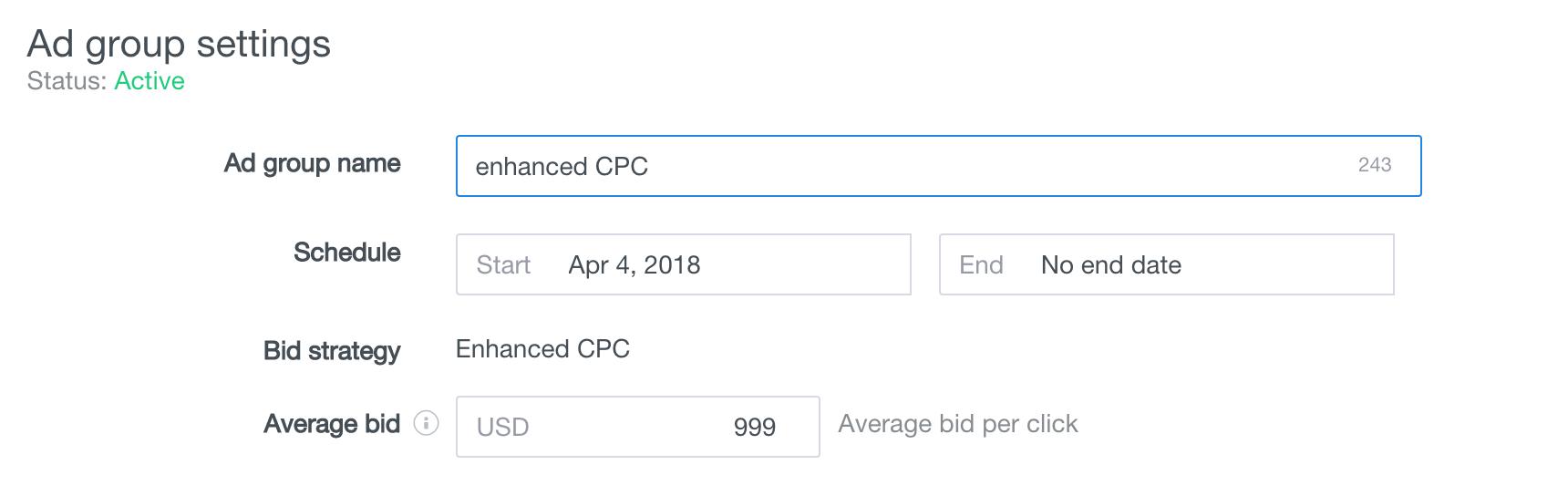 bid strategy enhanced cpc