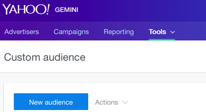 new audience click button