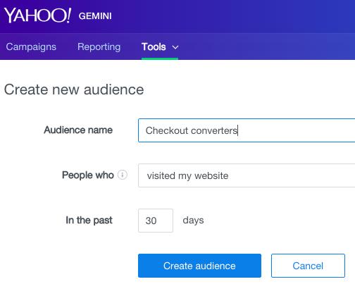 create-new-audience-website