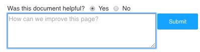 feedback form enter comments