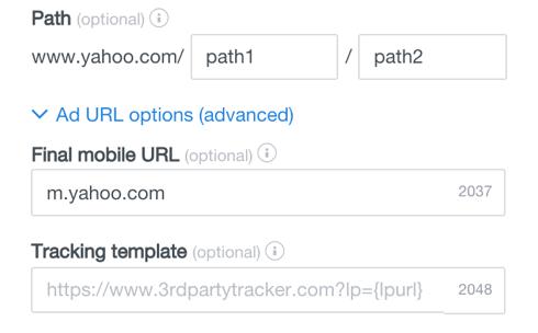 url options advanced