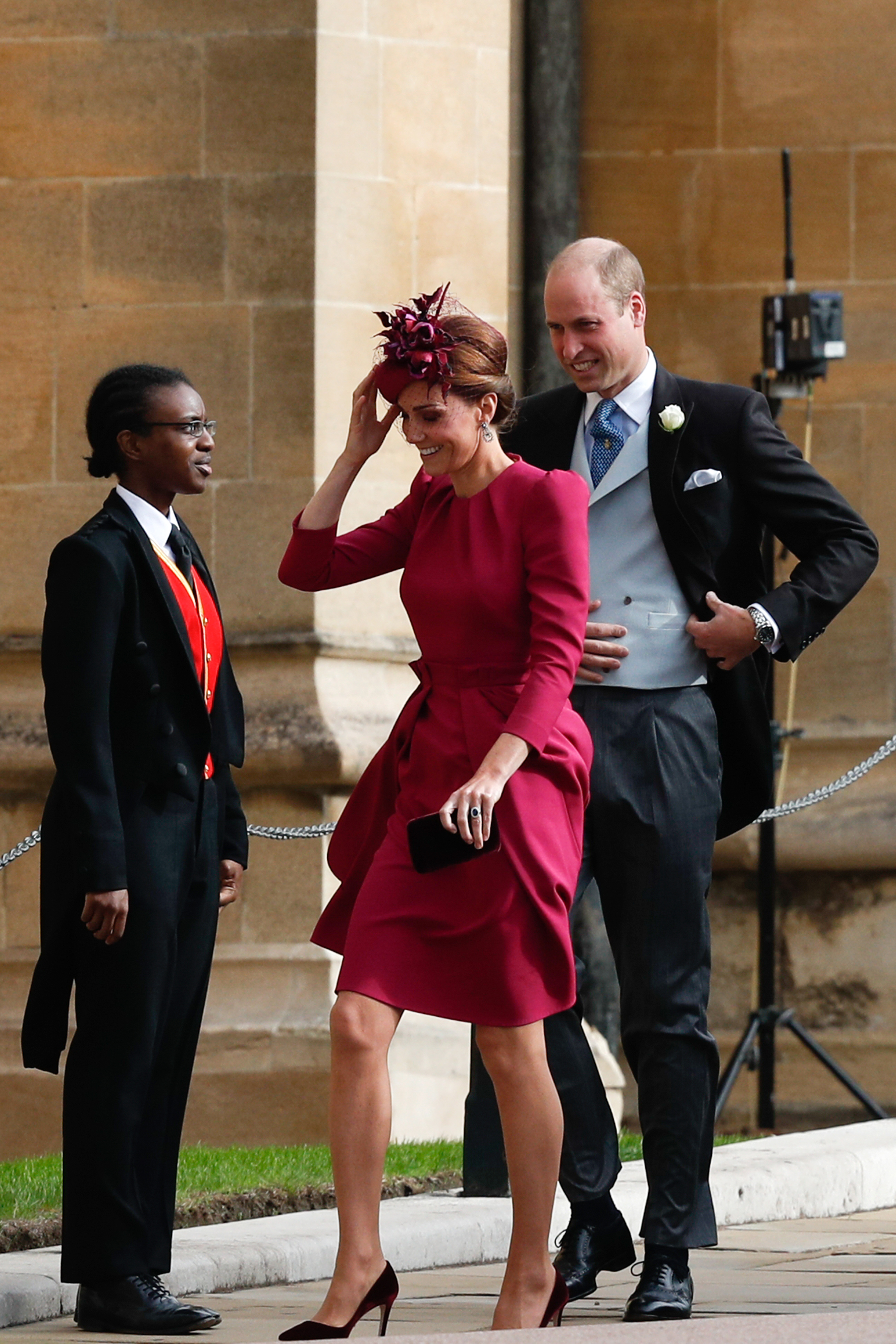 Catherine, Duchess of Cambridge and Prince William, Duke of Cambridge arrive ahead of the wedding of...