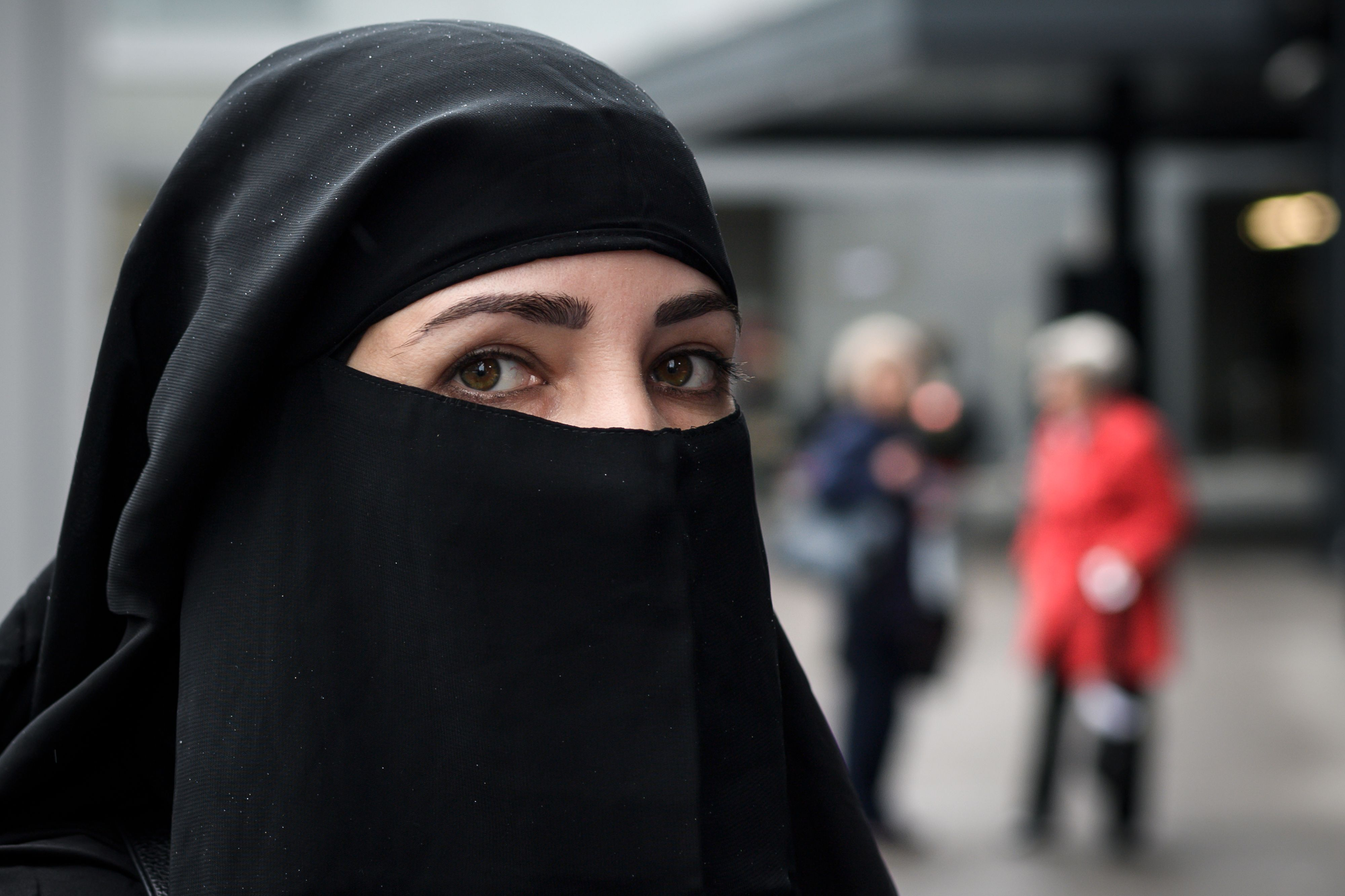 Une femme musulmane portant le