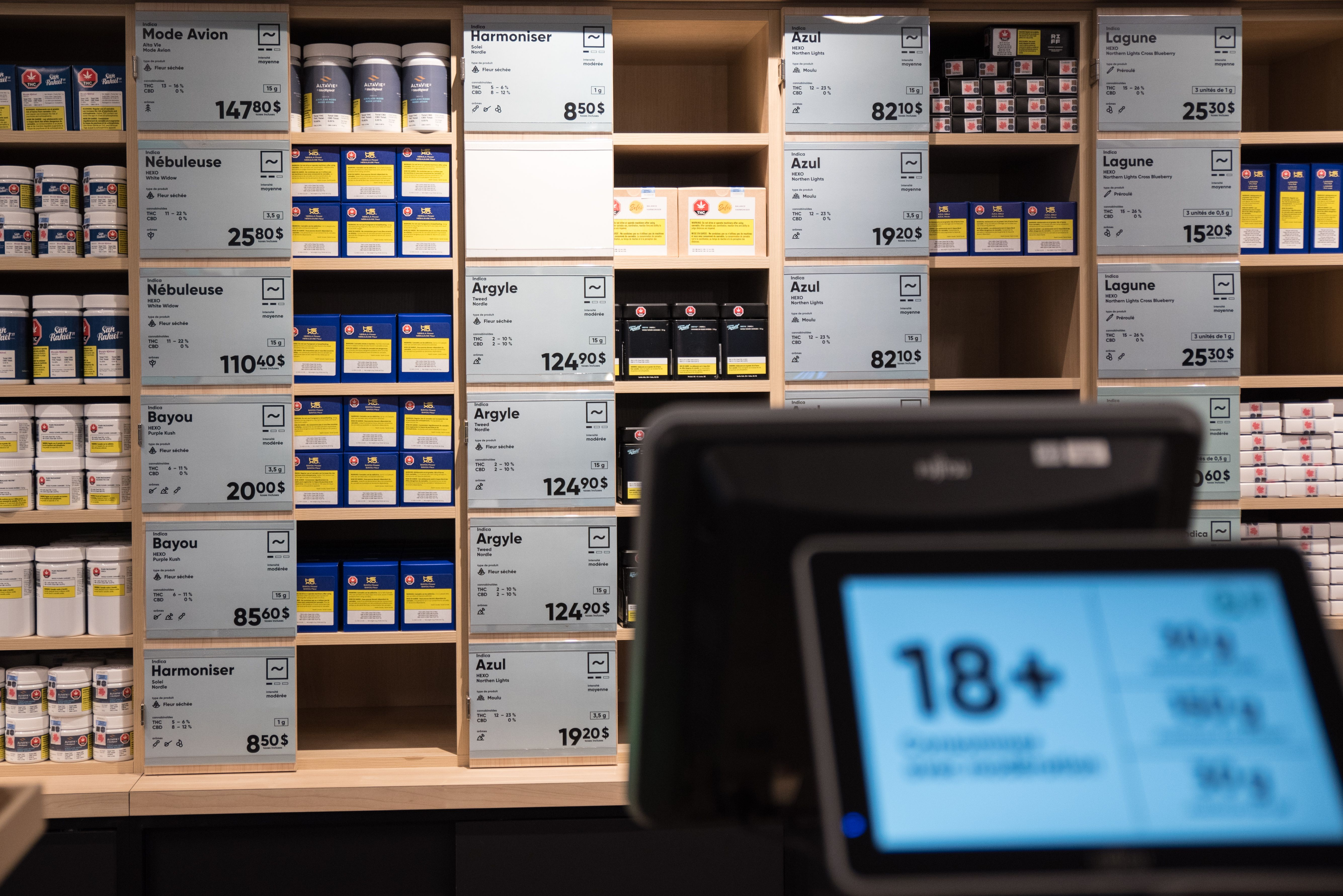 La SQDC démarre avec 12 magasins, mais pourrait en ouvrir jusqu'à 150 d'ici trois