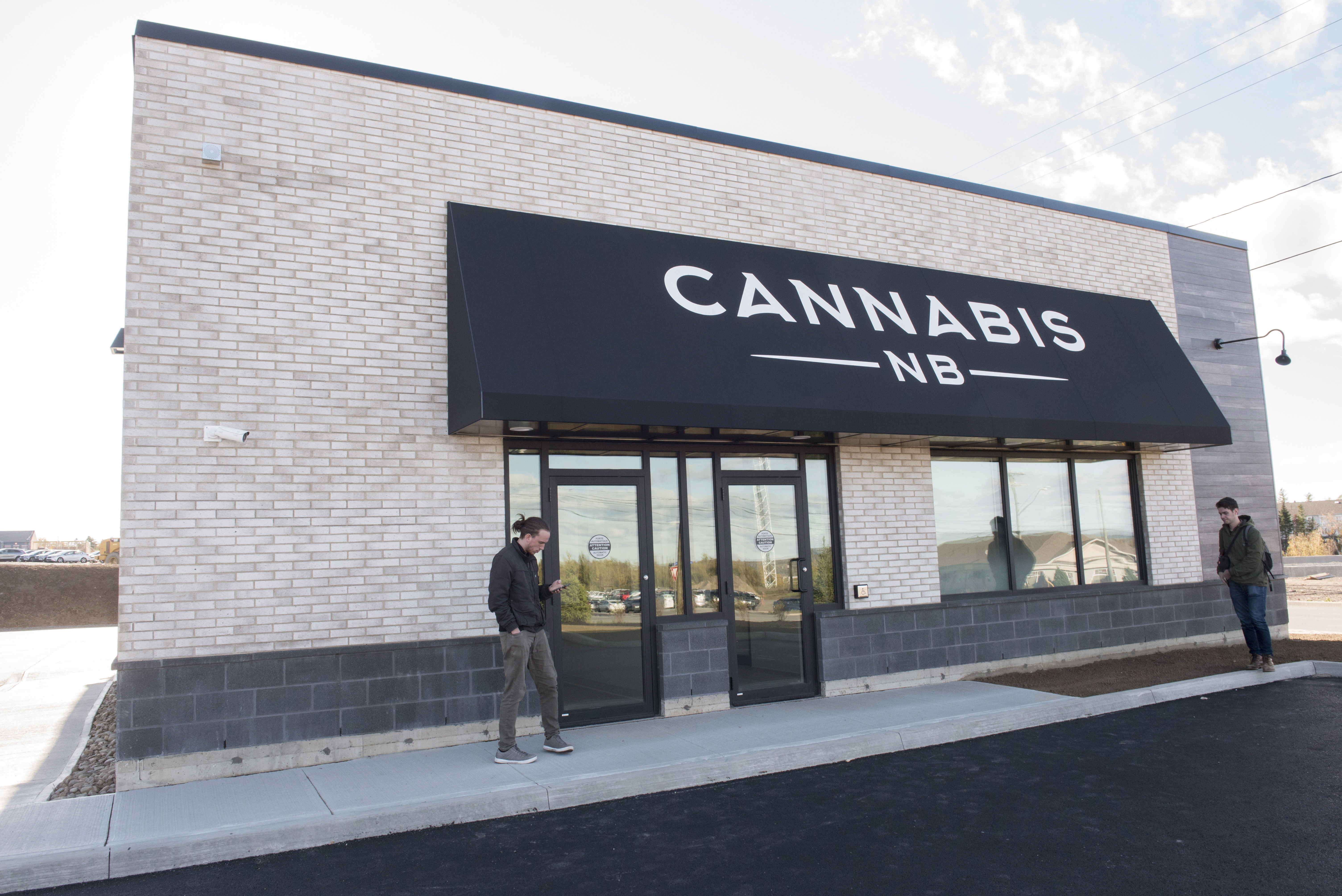 A Cannabis NB retail store in Fredericton, New Brunswick, on Oct. 16,