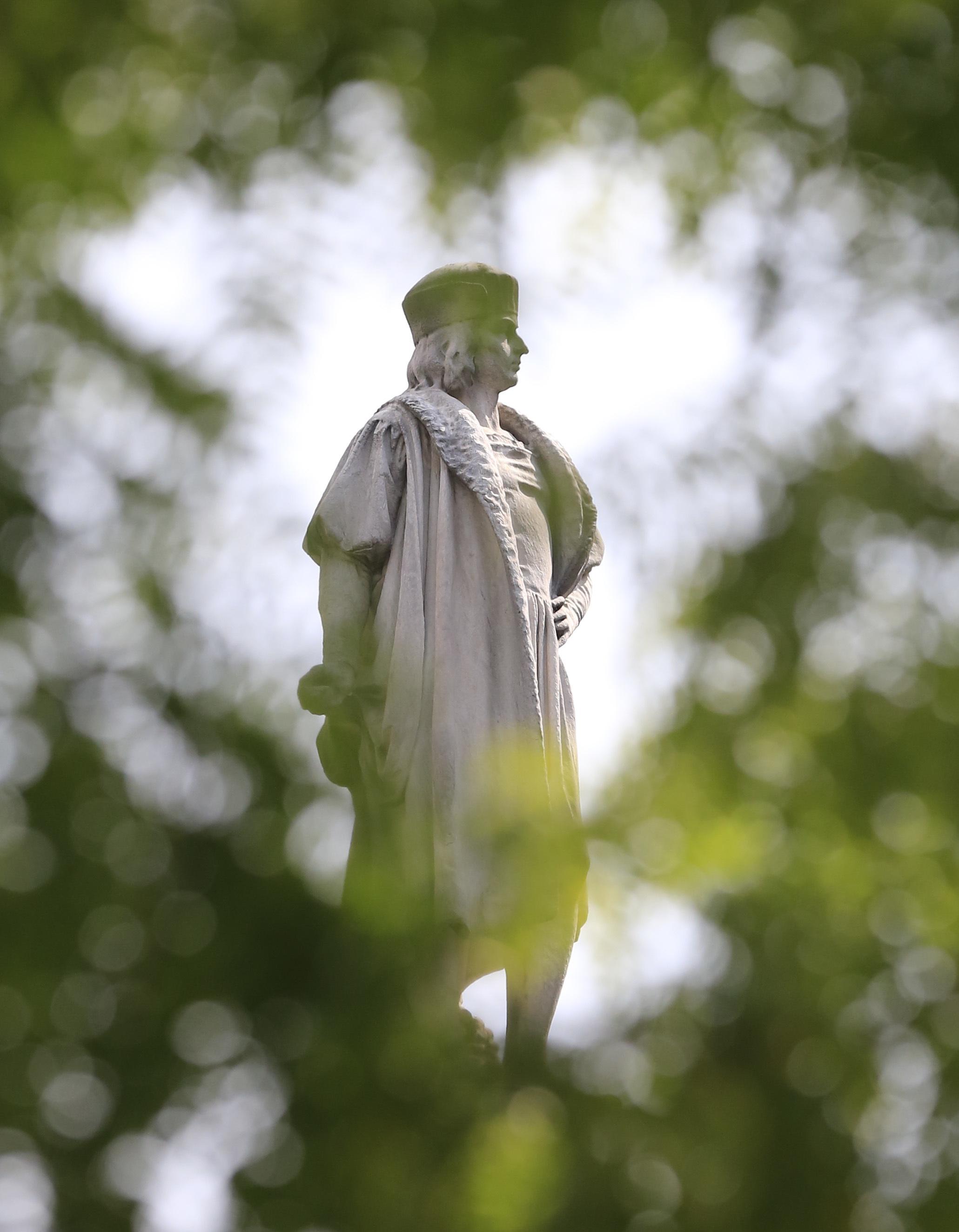 Estatua de Cristóbal Colón en Nueva York. Foto: Bebeto Matthews / AP