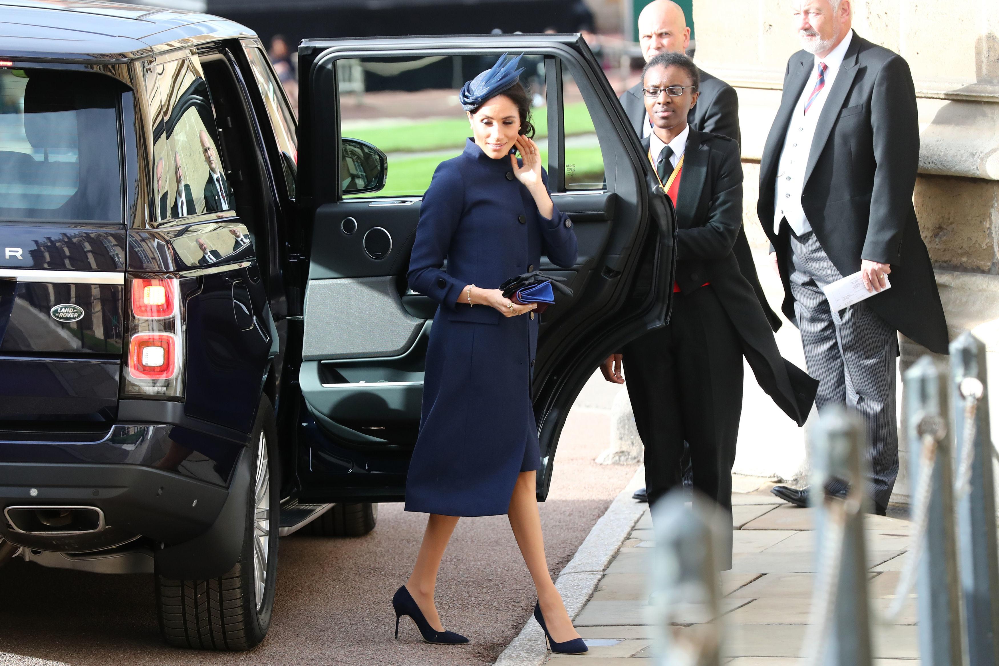 Meghan Markle llegando a la boda de