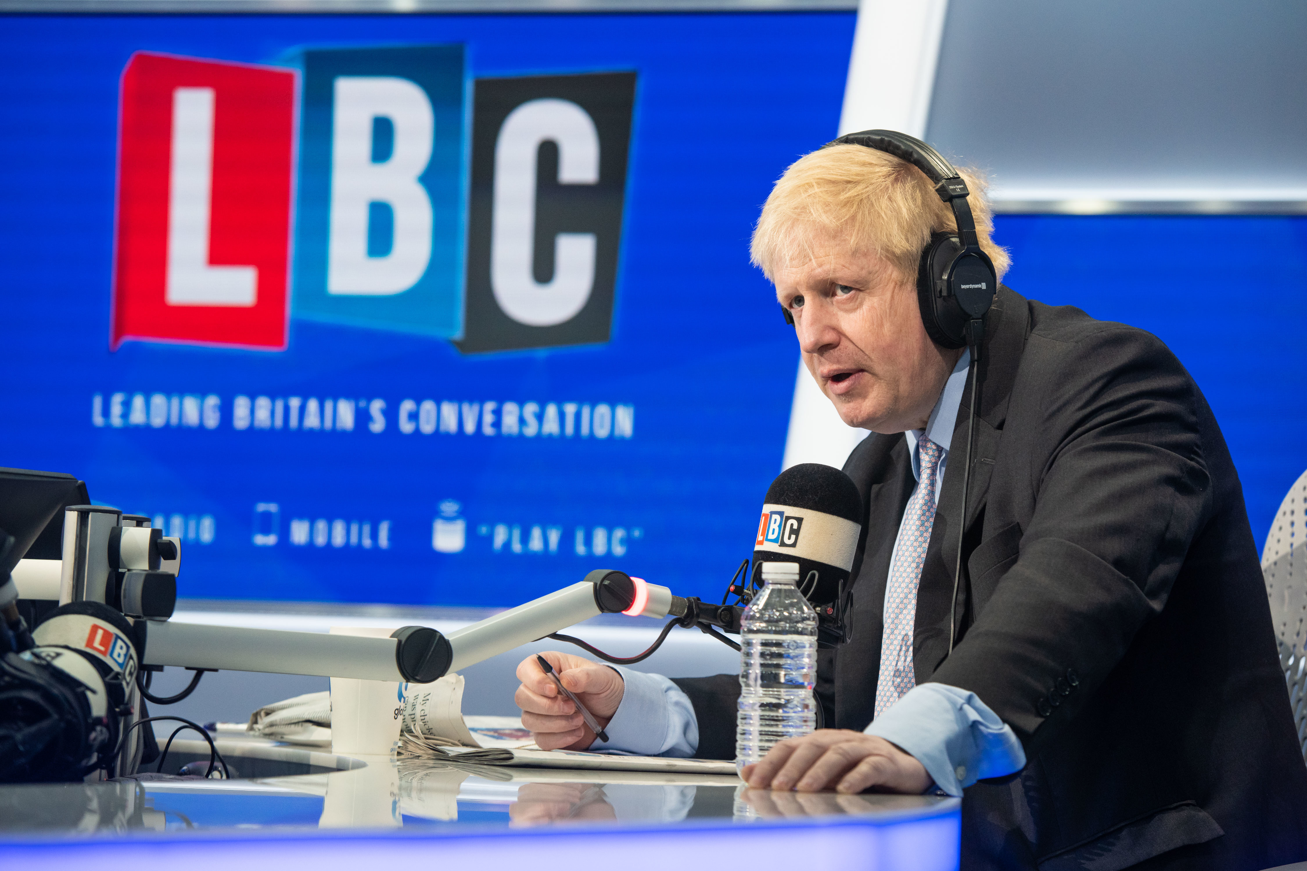 Boris Johnson pictured during a live radio phone-in on Nick Ferrari at Breakfast, on LBC, at their studios in central London. Picture date: Monday 14th January, 2018 . Photo credit should read: Matt Crossick/ EMPICS Entertainment.