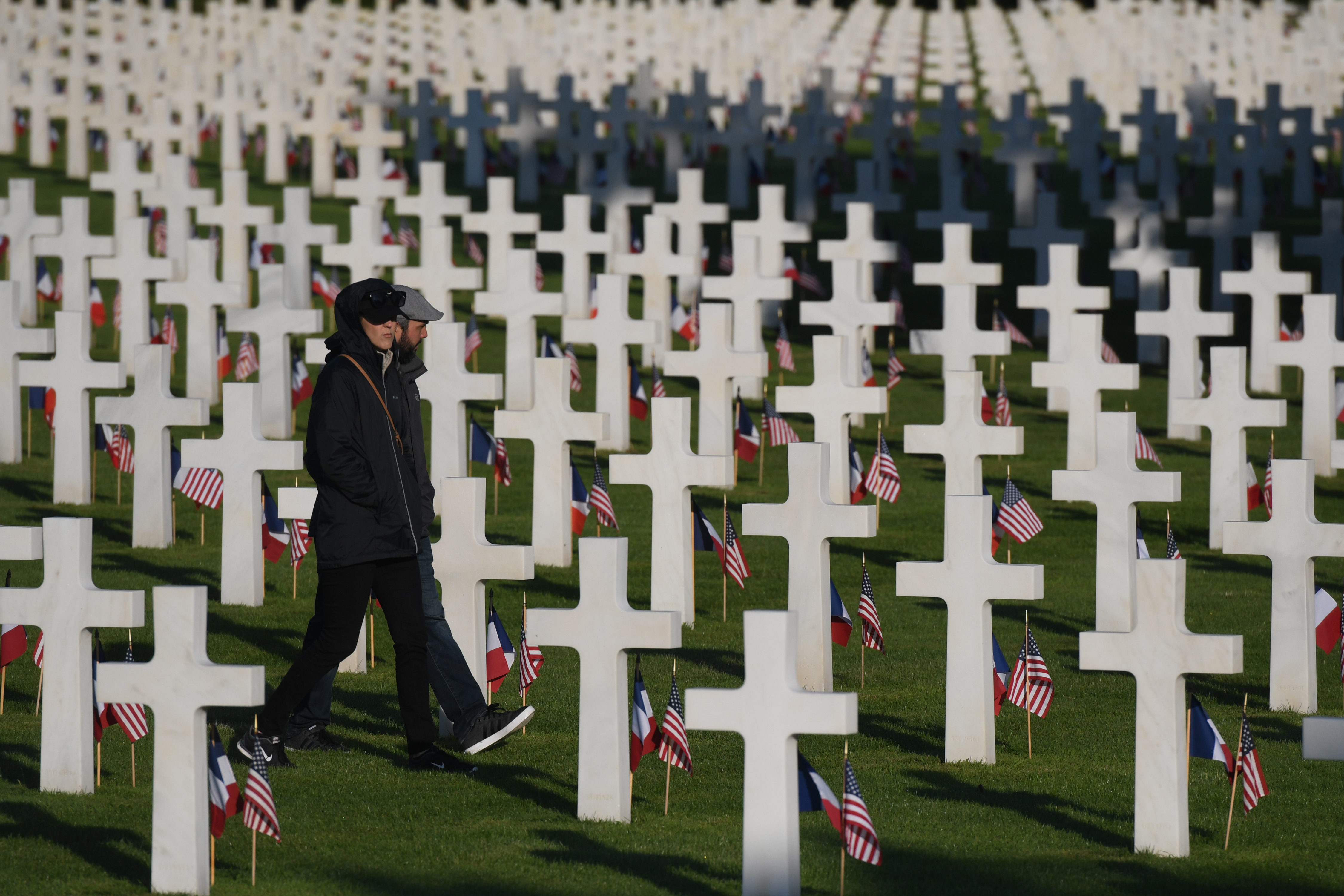 A view of Normandy American Cemetery in Colleville-sur-Mer ahead of the Franco-American Memorial Ceremony of 75th D-Day anniversary.On Thursday, June 6, 2019, in Colleville-sur-Mer, Normandy, France. (Photo by Artur Widak/NurPhoto via Getty Images)