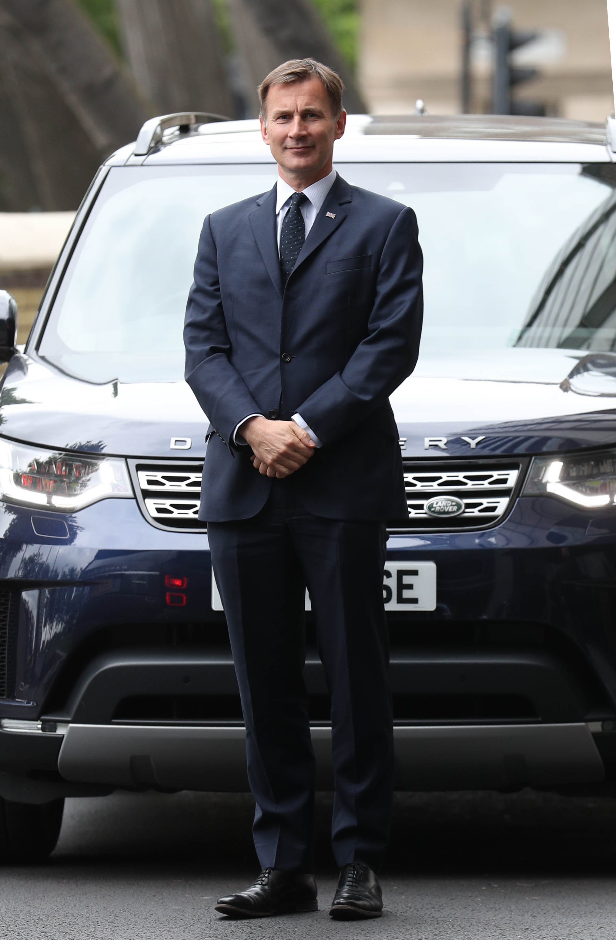 Conservative party leadership contender Jeremy Hunt arriving for the Conservative National Convention meeting at the Park Plaza Riverbank Hotel, central London.
