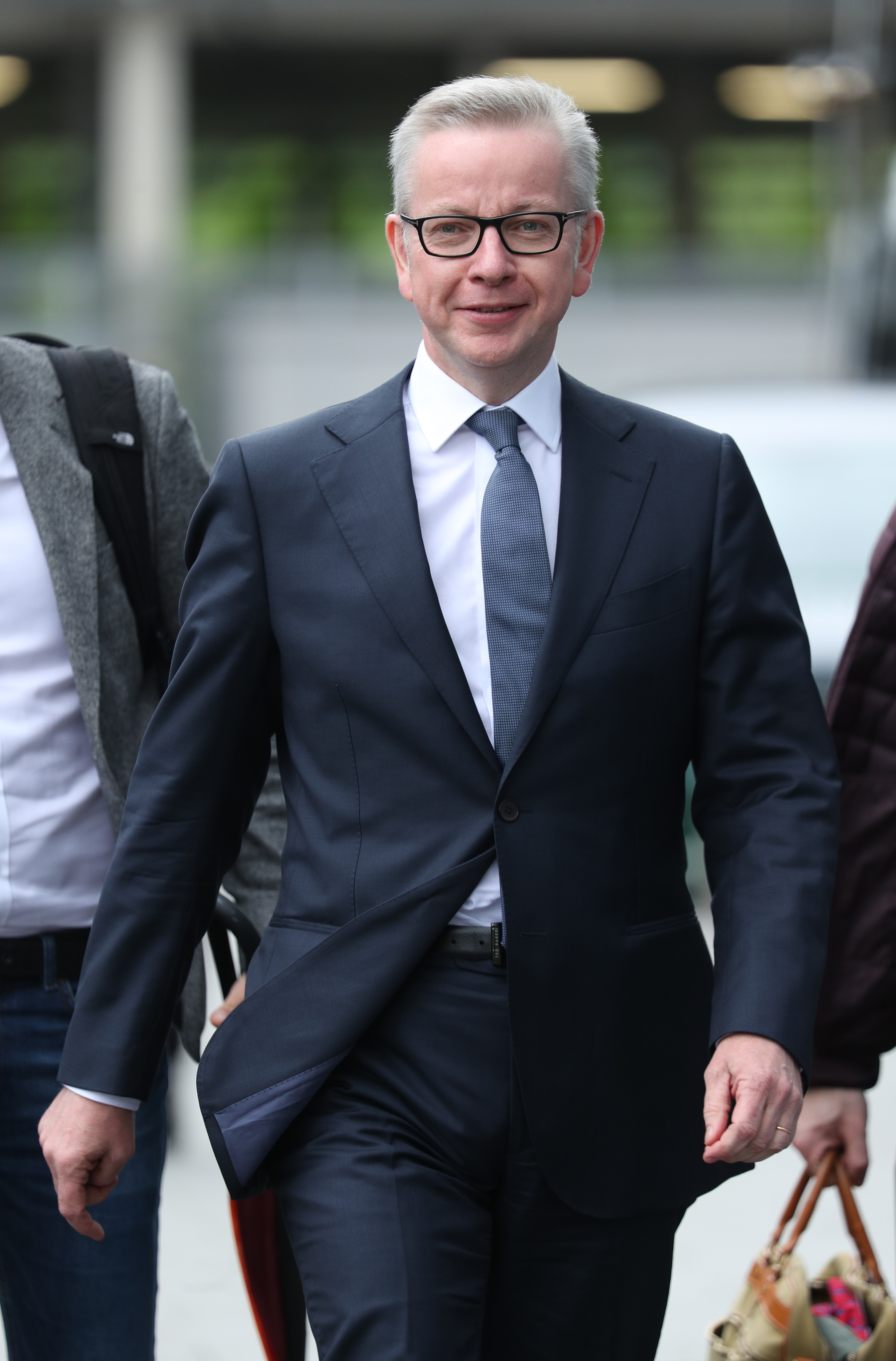 Conservative party leadership contender Michael Gove arrives at Here East studios in Stratford, east London, ahead of the live television debate for the candidates for leadership of the Conservative party, hosted by Channel 4.
