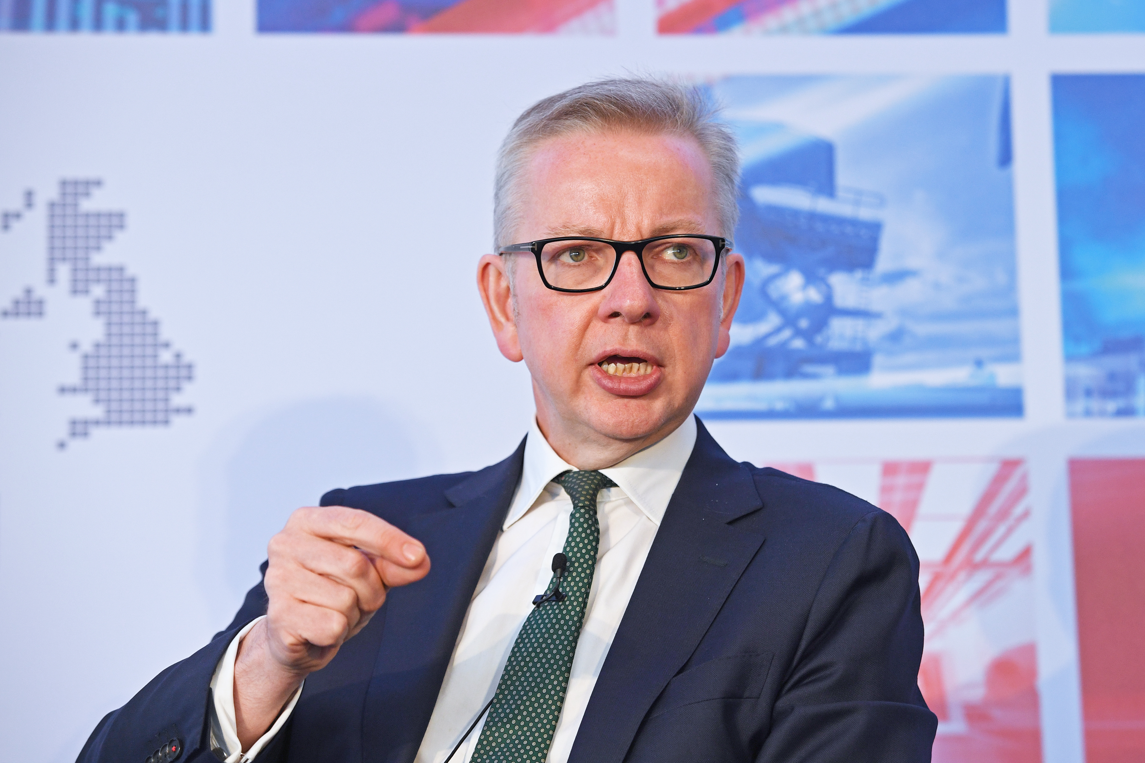 Environment Secretary Michael Gove addresses The Times CEO Summit at The News Building in London Bridge, London.