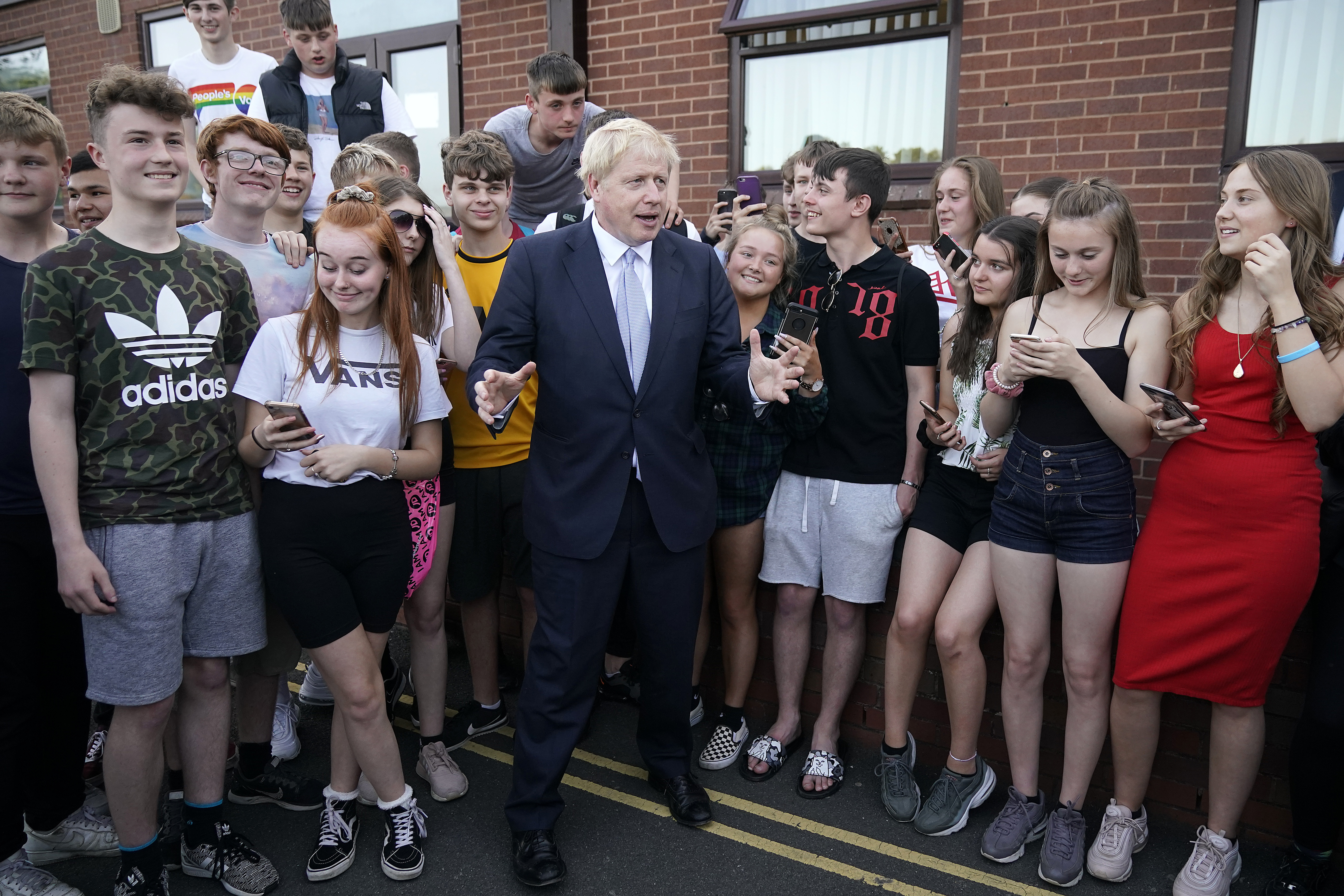 Conservative party leadership contender Boris Johnson at a campaign event in Wombourne in the West Midlands.