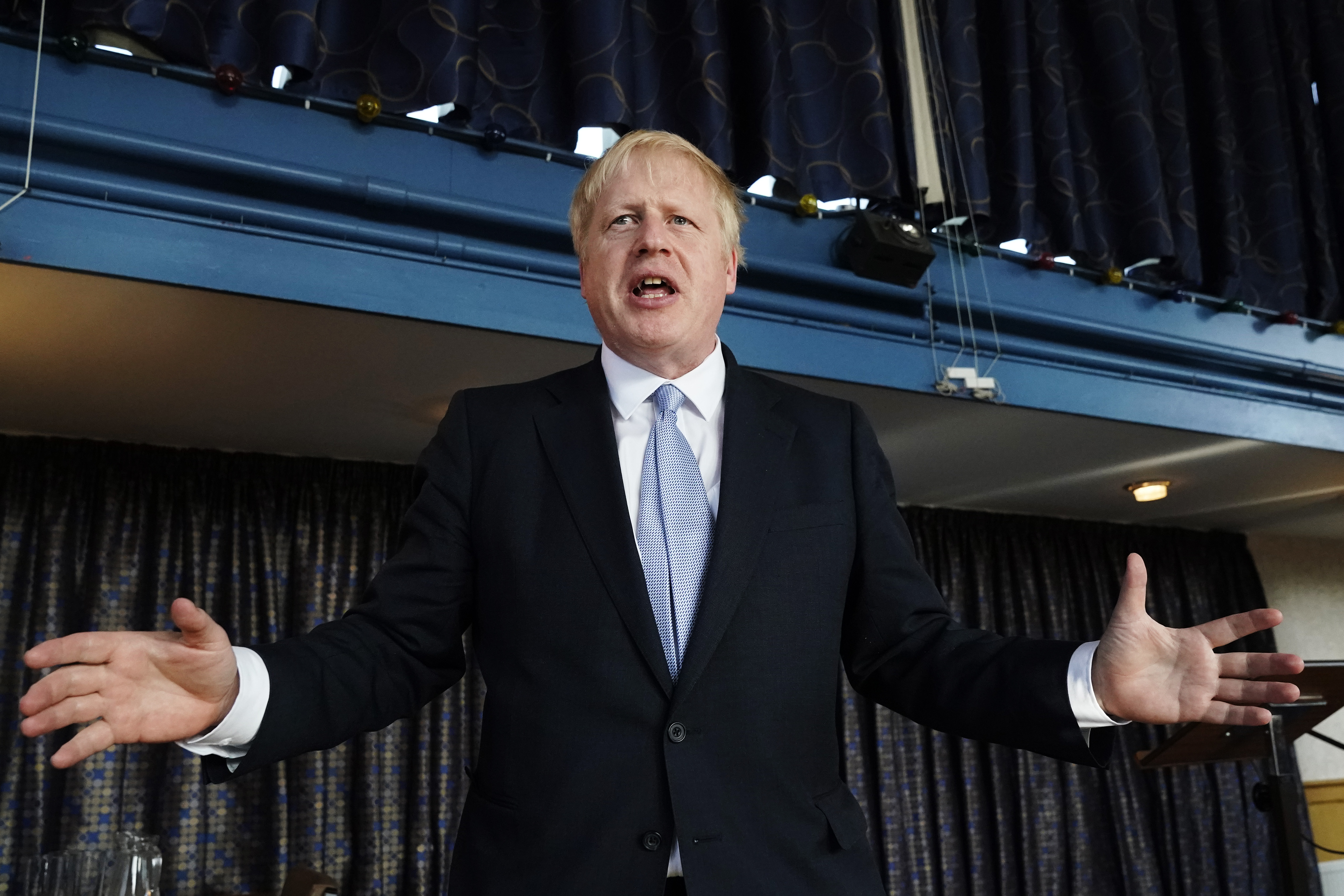 Conservative party leadership contender Boris Johnson speaking at a campaign event in Wombourne in the West Midlands.