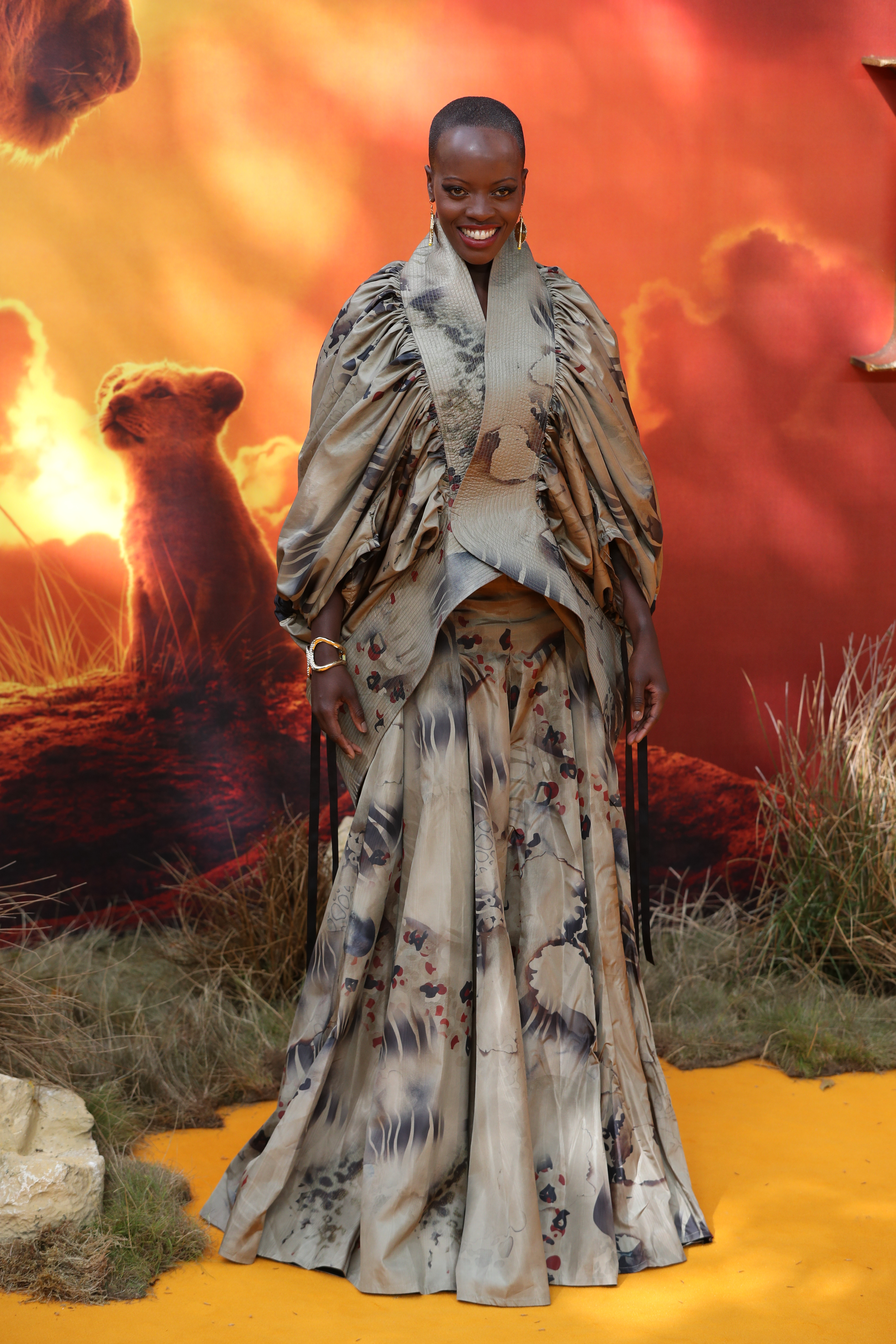 Florence Kasumba attends the European Premiere of Disney's The Lion King at the Odeon Leicester Square, London.