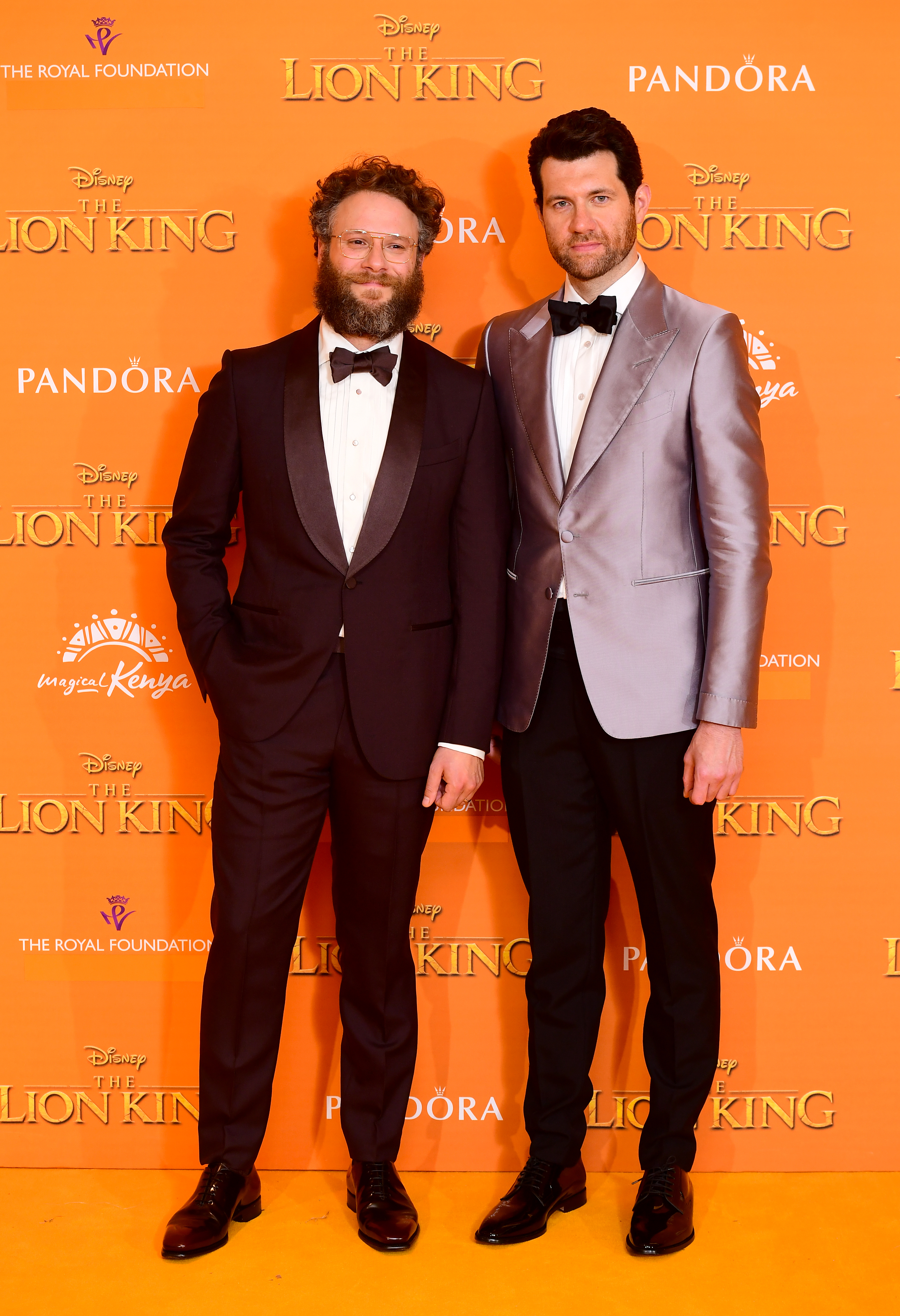 Seth Rogen (left) and Billy Eichner attending Disney's The Lion King European Premiere held in Leicester Square, London.