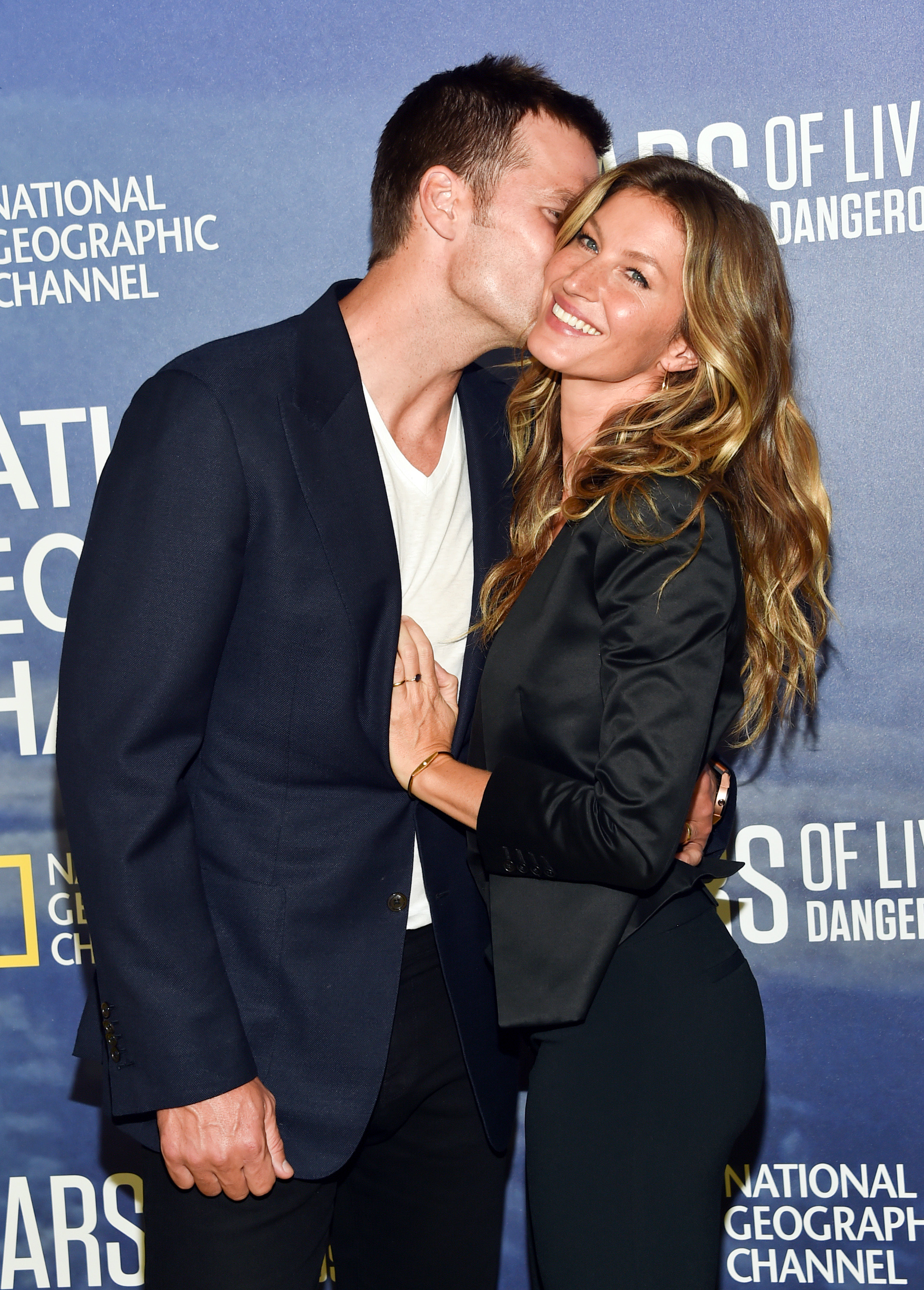 """Model Gisele Bundchen and her husband, NFL quarterback Tom Brady, attend the premiere of National Geographic Channel's, """"Years of Living Dangerously,"""" at the American Museum of Natural History on Wednesday, Sept. 21, 2016, in New York. (Photo by Evan Agostini/Invision/AP)"""