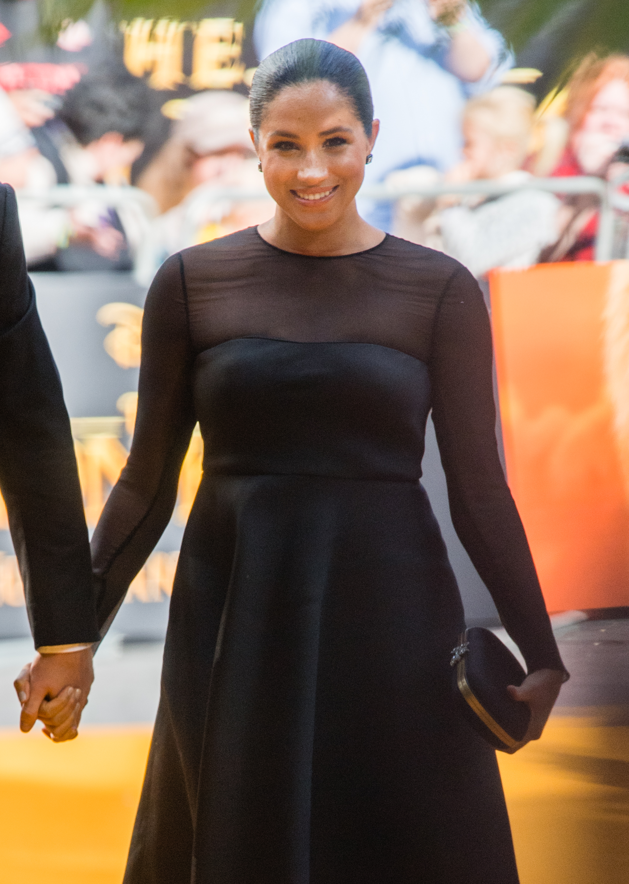 """LONDON, ENGLAND - JULY 14:  Meghan, Duchess of Sussex attends """"The Lion King"""" European Premiere at Leicester Square on July 14, 2019 in London, England. (Photo by Samir Hussein/WireImage)"""