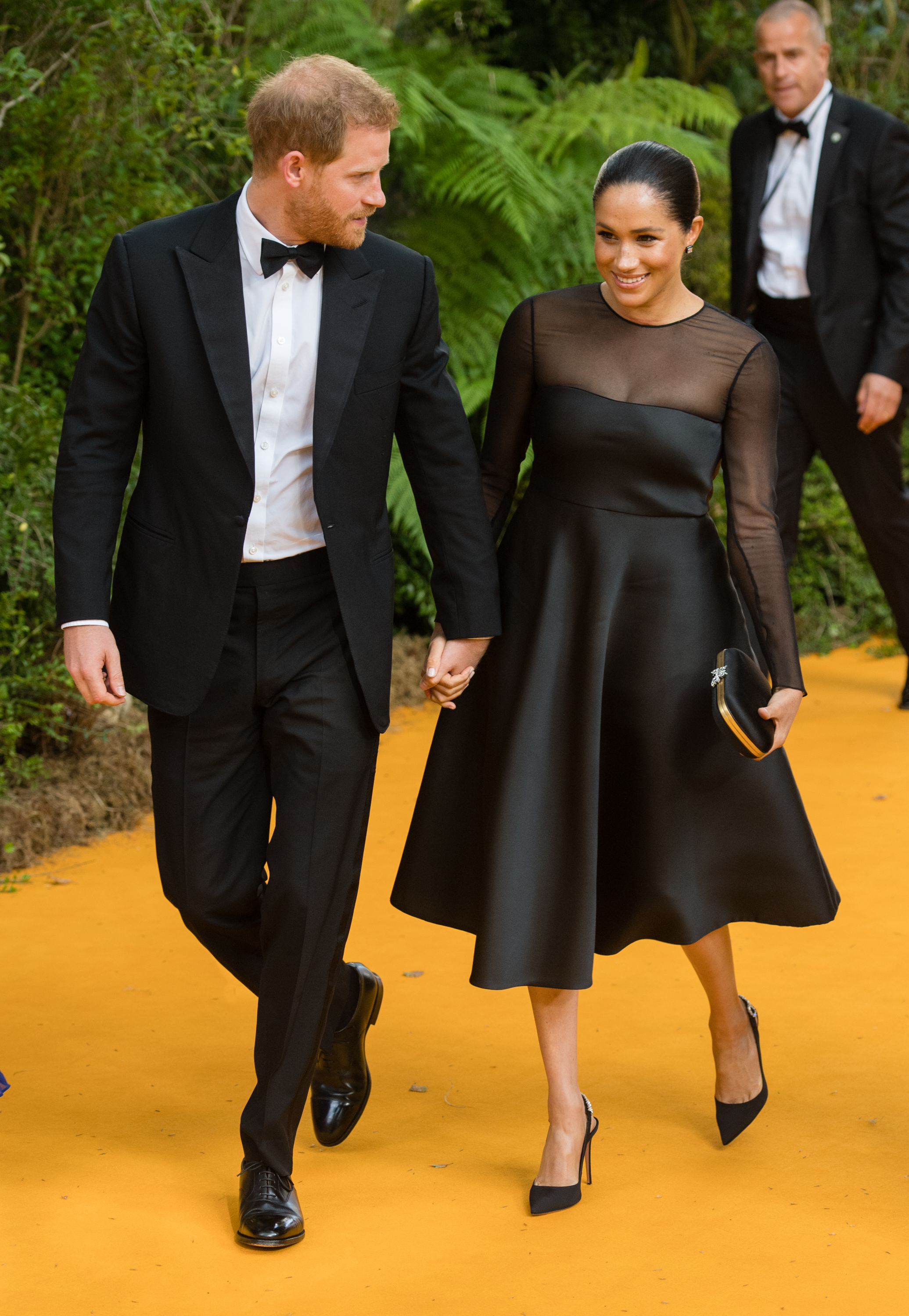 """LONDON, ENGLAND - JULY 14: Prince Harry, Duke of Sussex and Meghan, Duchess of Sussex attend """"The Lion King"""" European Premiere at Leicester Square on July 14, 2019 in London, England. (Photo by Samir Hussein/WireImage)"""
