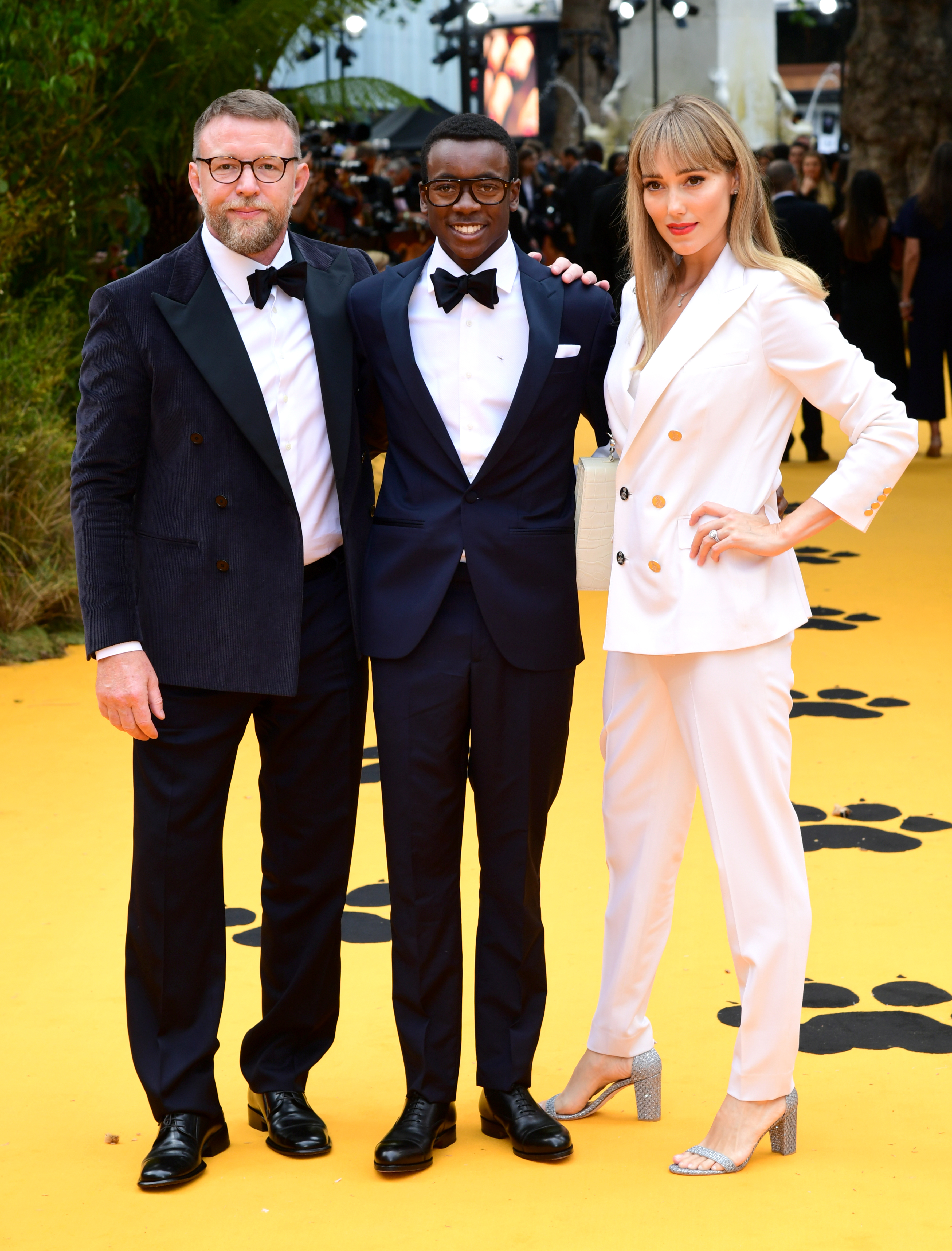 Guy Ritchie, Jacqui Ritchie and family attending Disney's The Lion King European Premiere held in Leicester Square, London.