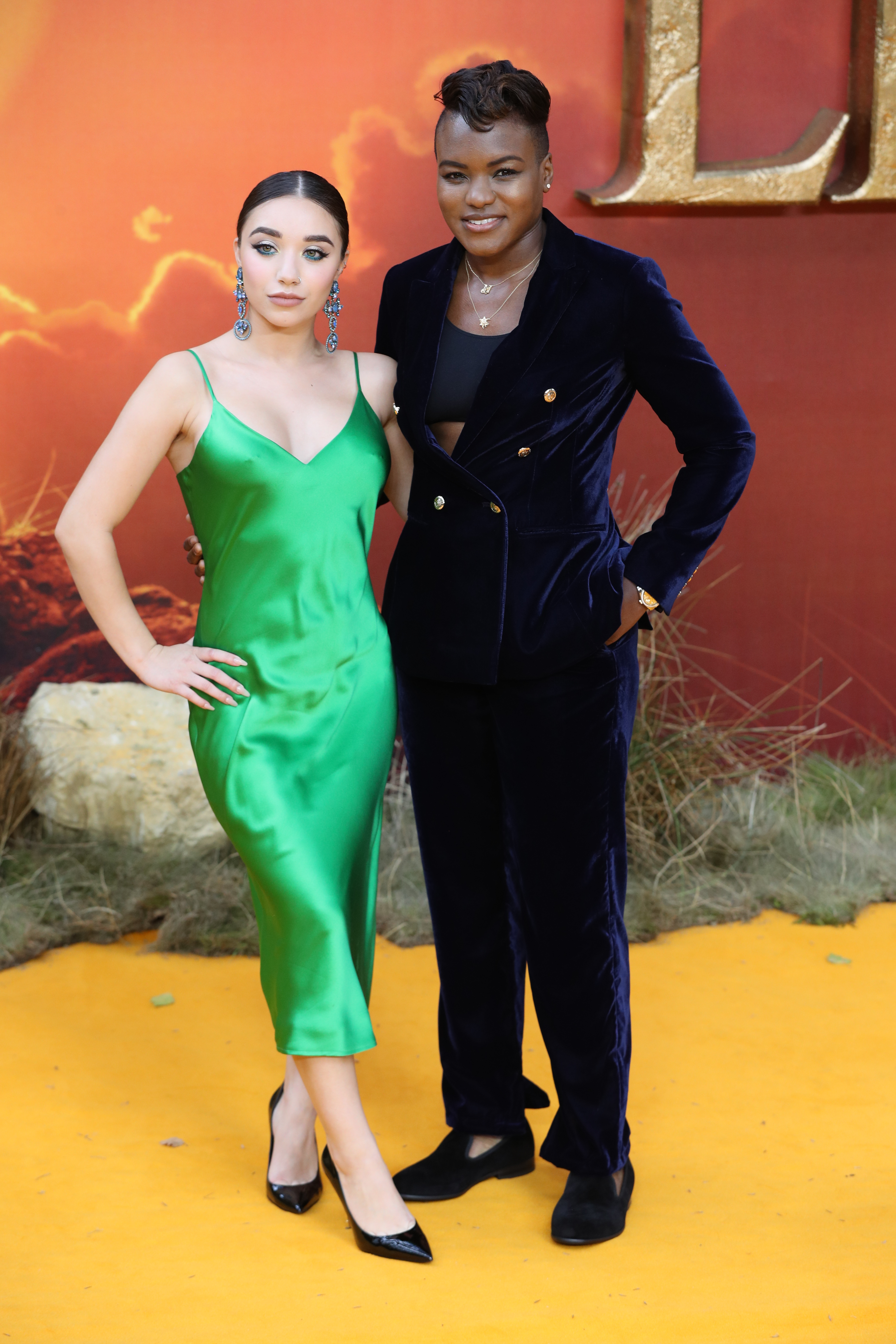Nicola Adams and partner attend the European Premiere of Disney's The Lion King at the Odeon Leicester Square, London.