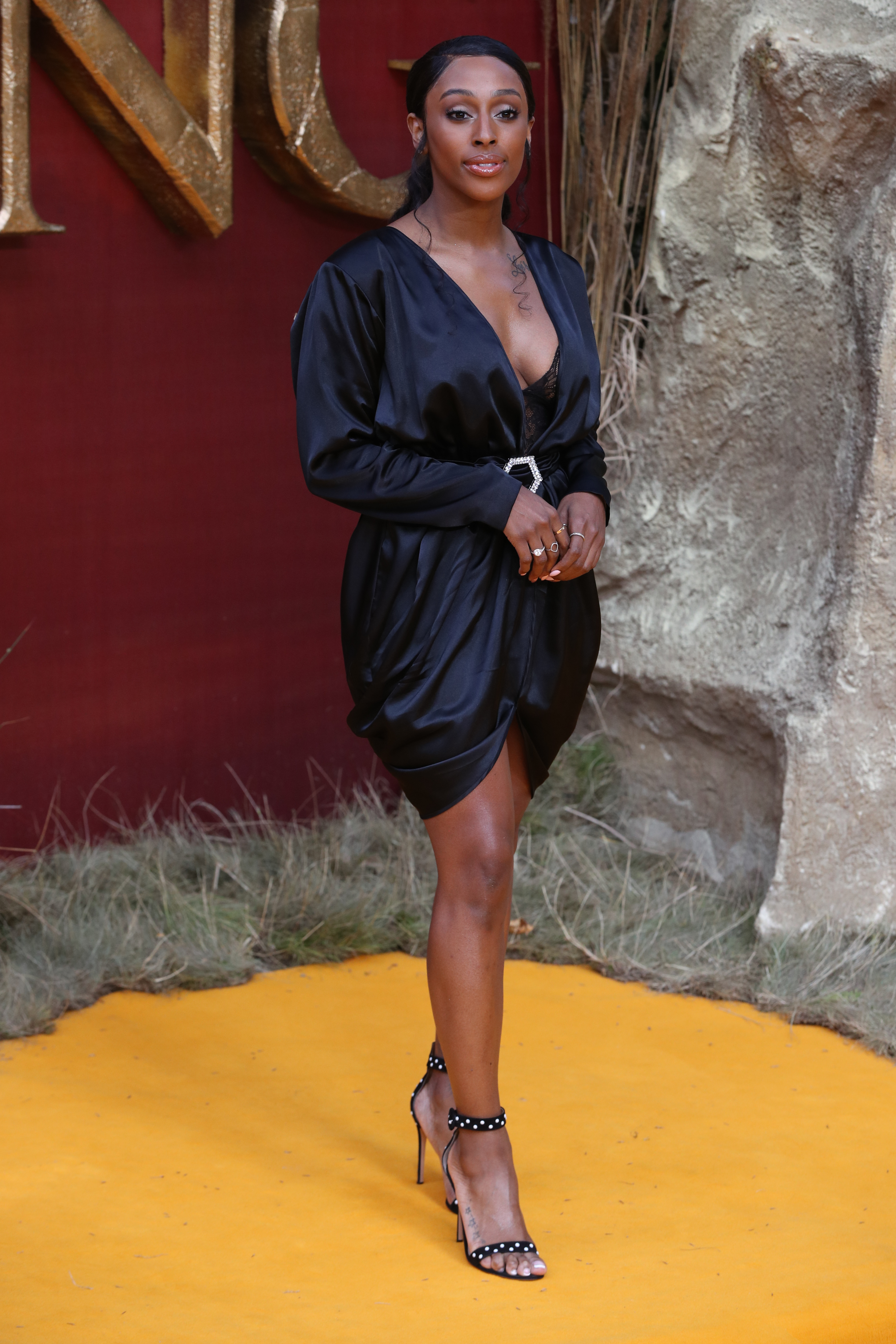 Alexandra Burke attends the European Premiere of Disney's The Lion King at the Odeon Leicester Square, London.