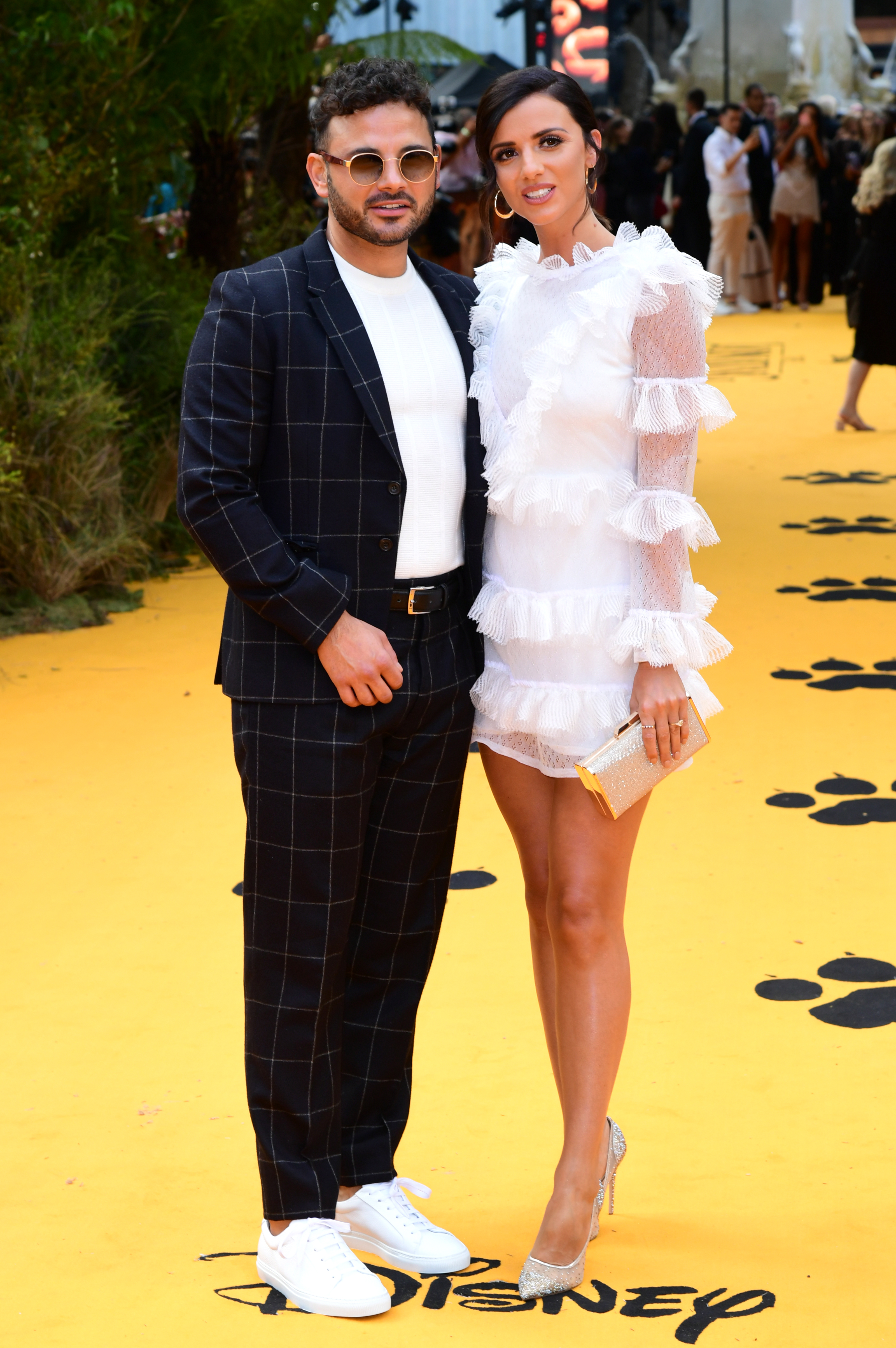 Ryan Thomas and Lucy Mecklenburgh attending Disney's The Lion King European Premiere held in Leicester Square, London.