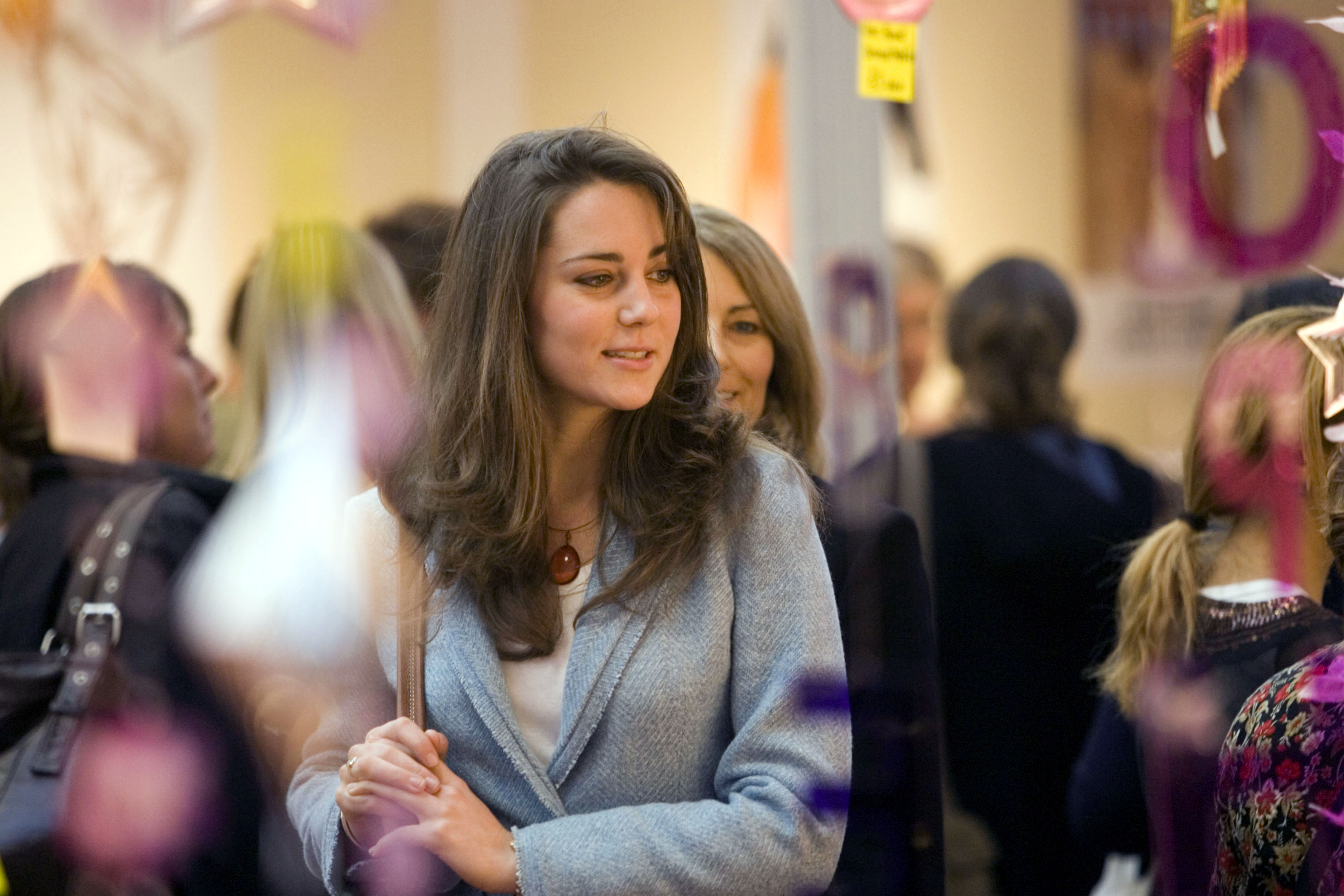 Kate Middleton & Mother Carole Visit The Spirit Of Christmas Shopping Festival At London'S Olympia. (Photo by Antony Jones/Brendan Bierne/UK Press via Getty Images)