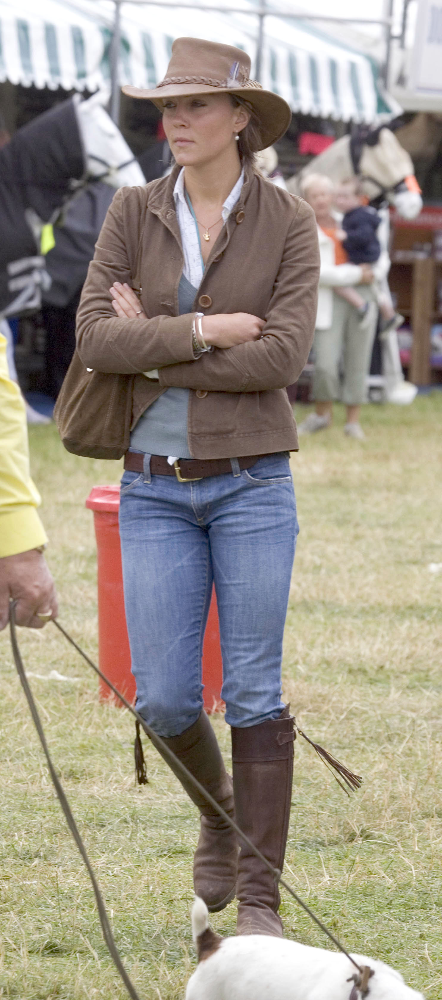 Kate Middleton, girlfriend of Prince William, attends the second day of the Gatcombe Park Festival of British Eventing at Gatcombe Park, on August 6, 2005 near Tetbury, England. (Photo by Anwar Hussein/WireImage)