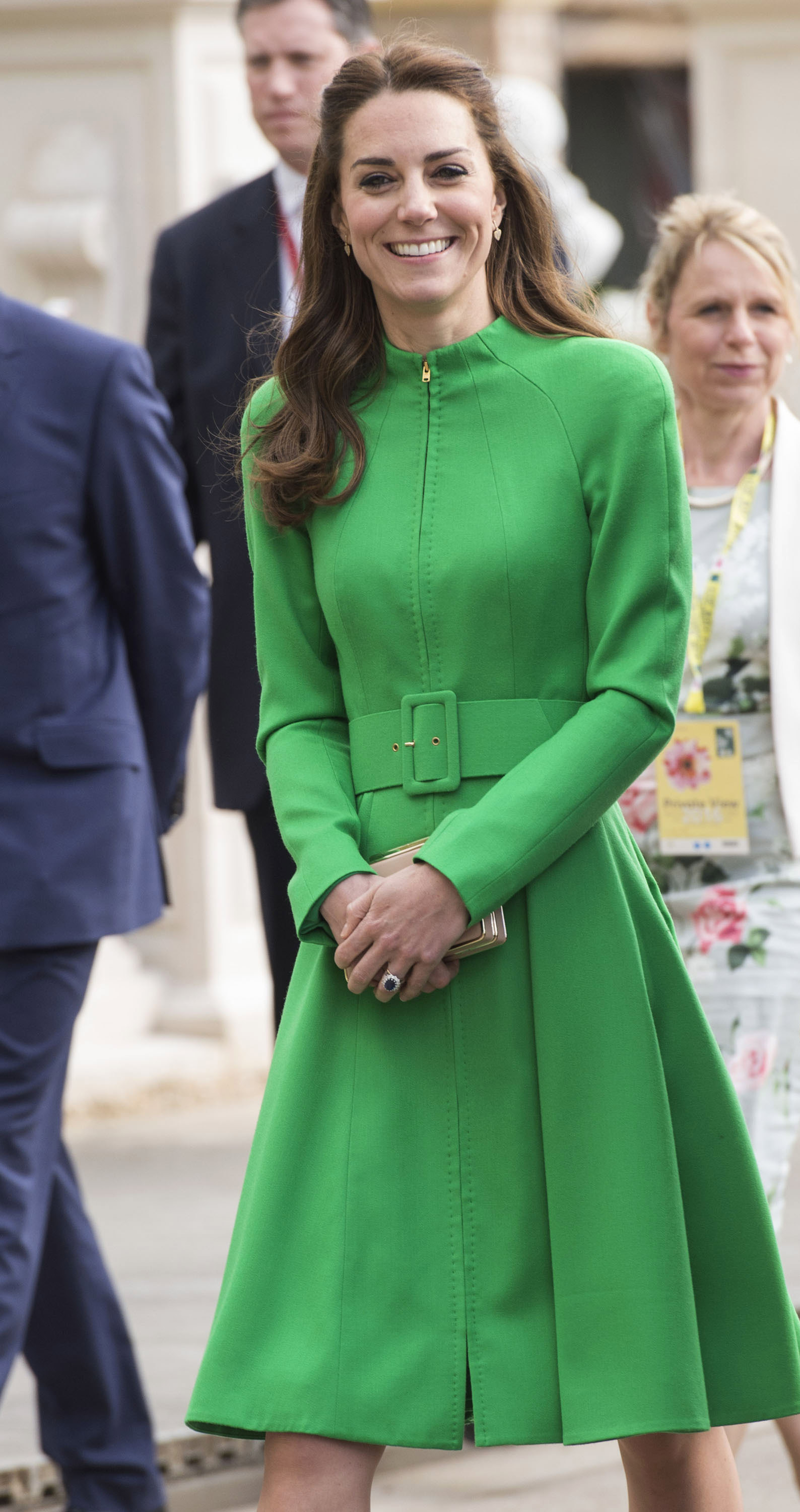 LONDON, ENGLAND - MAY 23:  Catherine, Duchess of Cambridge attends Chelsea Flower Show press day at Royal Hospital Chelsea on May 23, 2016 in London, England. The prestigious gardening show features hundreds of stands and exhibition gardens.  (Photo by Mark Cuthbert/UK Press via Getty Images)