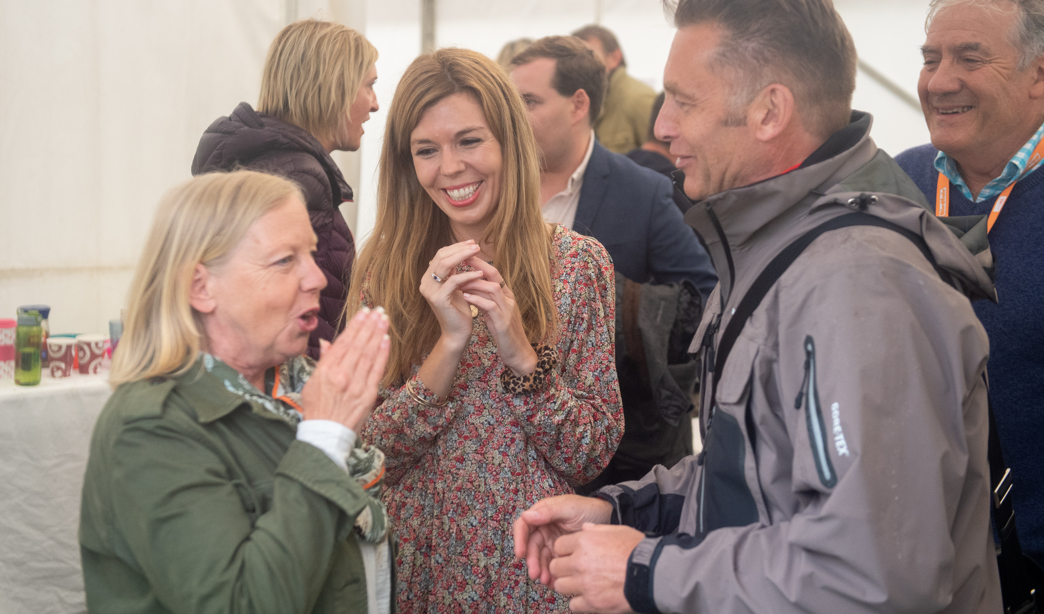 Carrie Symonds, the partner of Prime Minister Boris Johnson, attends Birdfair, an environmental awareness conference, at the Rutland Water Nature Reserve in Egleton near Oakham, where she is due to give a speech.