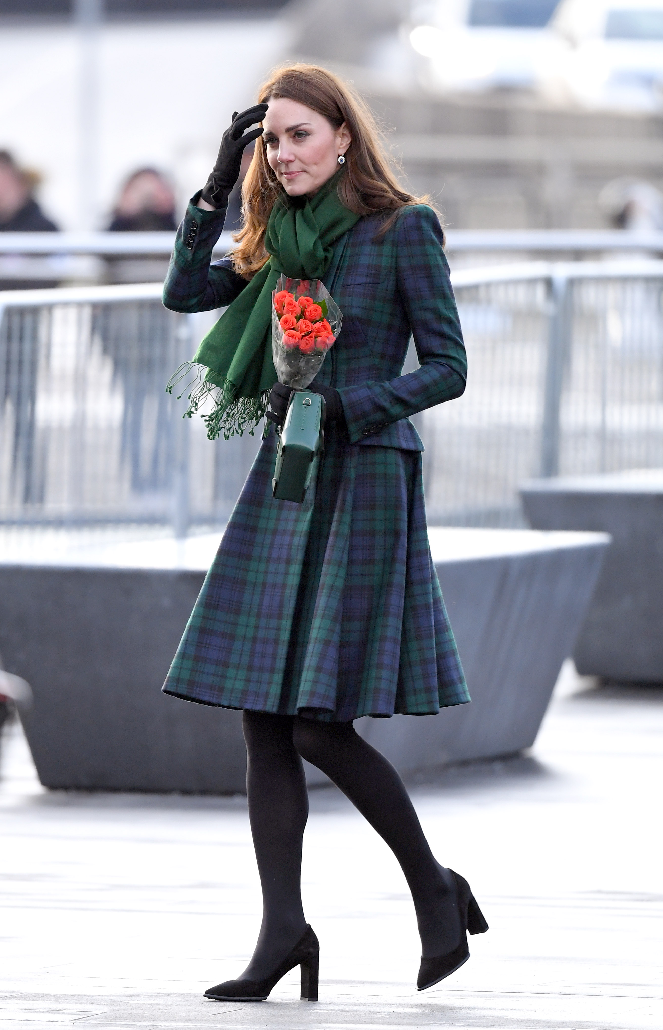 DUNDEE, SCOTLAND - JANUARY 29:  Catherine, Duchess Of Cambridge officially opens V&A Dundee and greet members of the public on the waterfront on January 29, 2019 in Dundee, Scotland.  (Photo by Karwai Tang/WireImage)