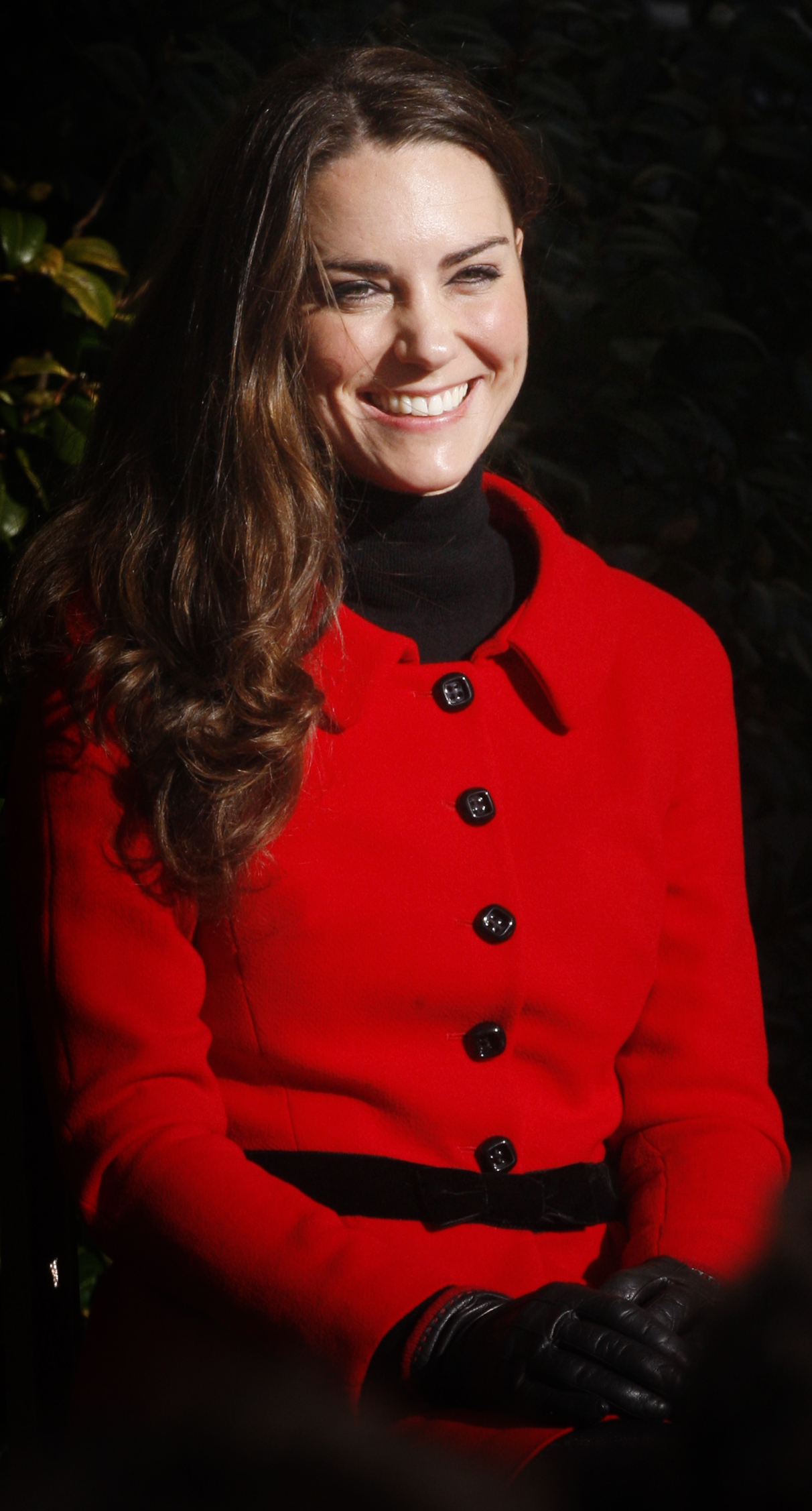 Prince William's fiancee Kate Middleton smiles during a visit to the University of St Andrews in Scotland on February 25, 2011. During the visit they viewed the surviving Papal Bull (the university's founding document), unveiled a plaque, and met a selection of the University's current staff and students to mark the start of the Anniversary. Prince William and Kate Middleton attended the university as students from 2001 to 2005 and began their romance in St Andrews.2011. AFP PHOTO/WPA POOL/DANNY LAWSON (Photo credit should read DANNY LAWSON/AFP/Getty Images)