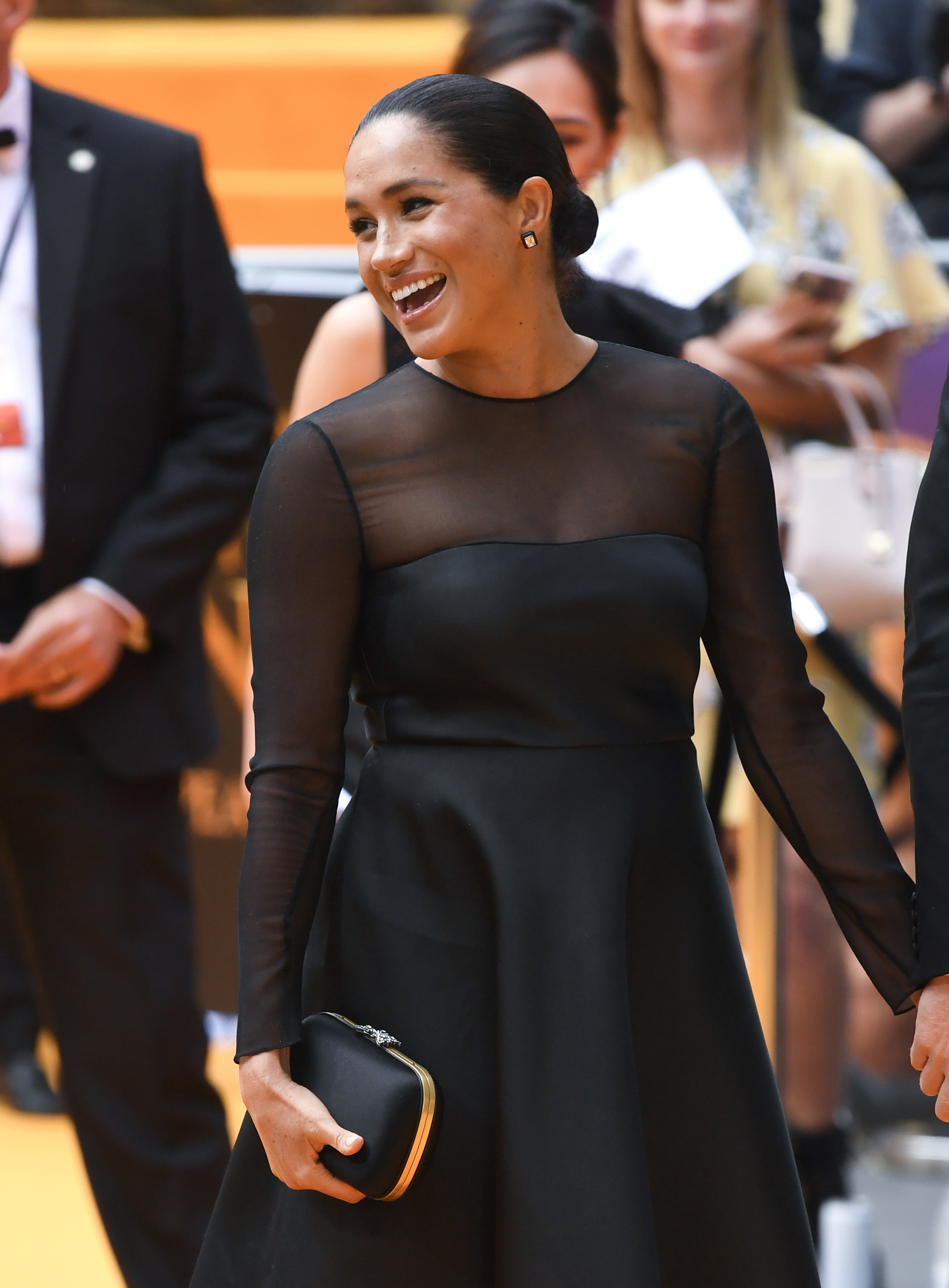 The Duchess of Sussex at the European Premiere of The Lion King, Odeon Cinema, Leicester Square, London. Photo credit should read: Doug Peters/EMPICS