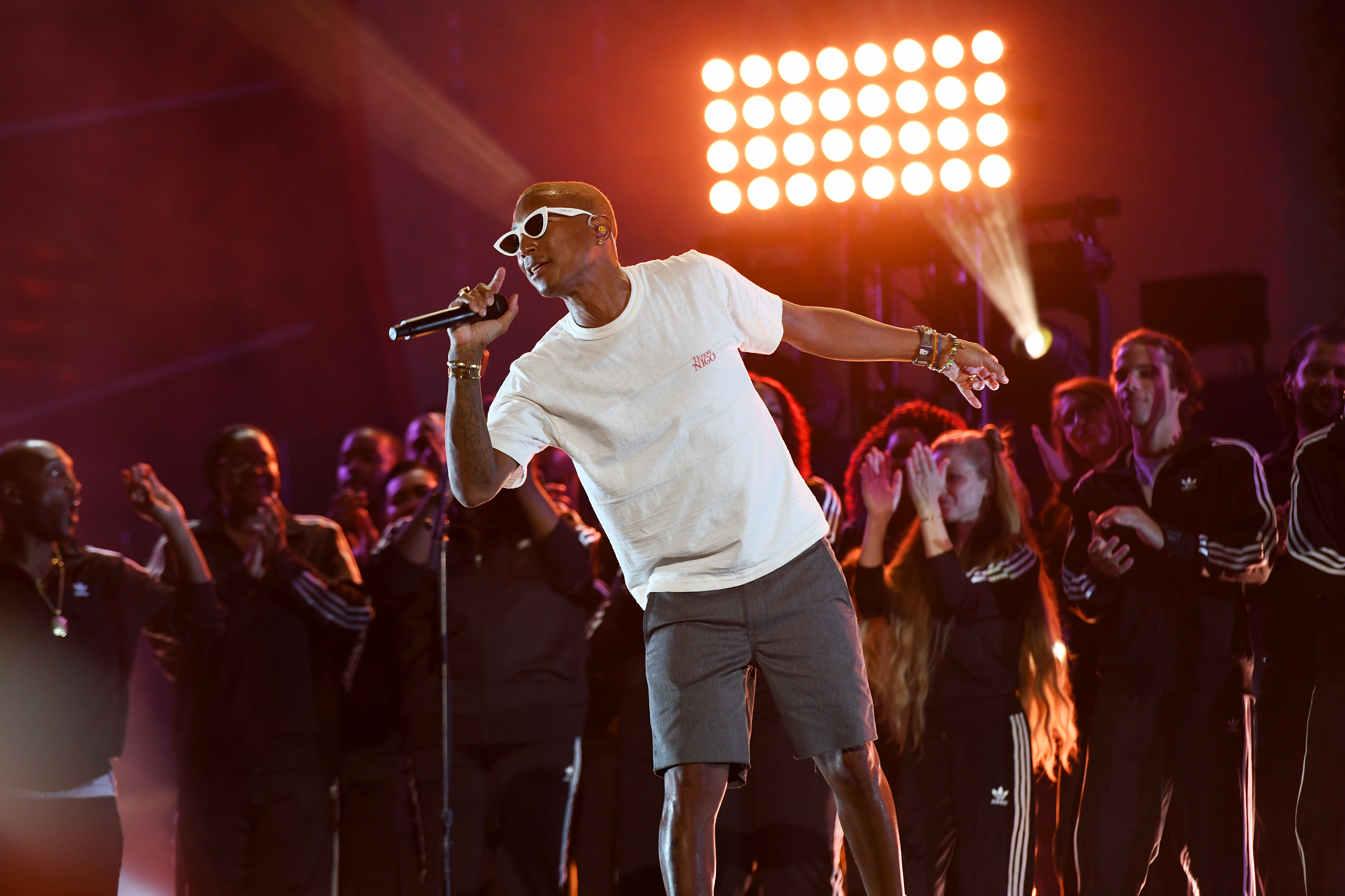 NEW YORK, NEW YORK - SEPTEMBER 28: Pharrell Williams performs onstage during the 2019 Global Citizen Festival: Power The Movement in Central Park on September 28, 2019 in New York City. (Photo by Noam Galai/Getty Images for Global Citizen)