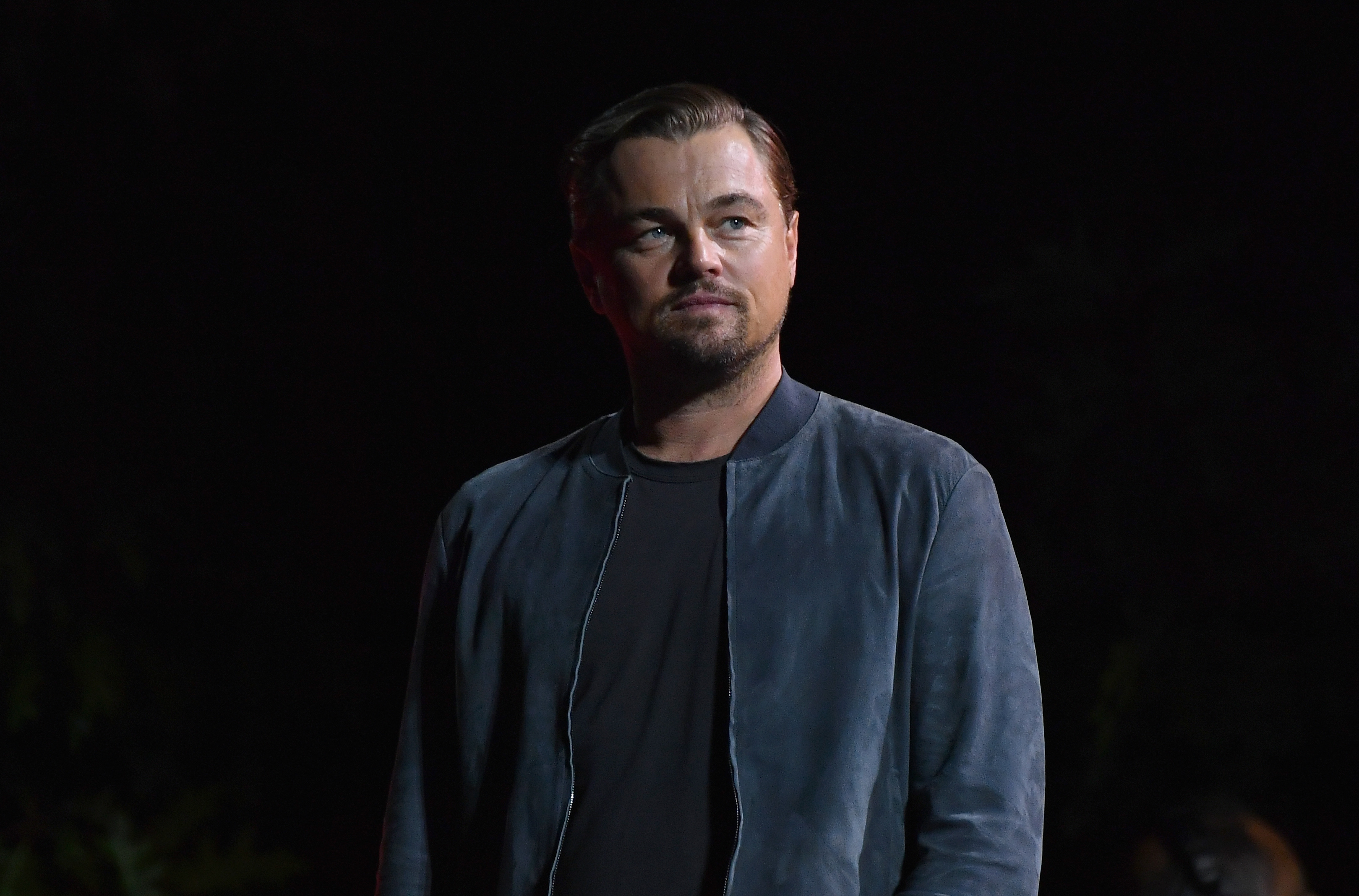 US actor Leonardo DiCaprio speaks onstage at the 2019 Global Citizen Festival: Power The Movement in Central Park in New York on September 28, 2019. (Photo by Angela Weiss / AFP)        (Photo credit should read ANGELA WEISS/AFP/Getty Images)
