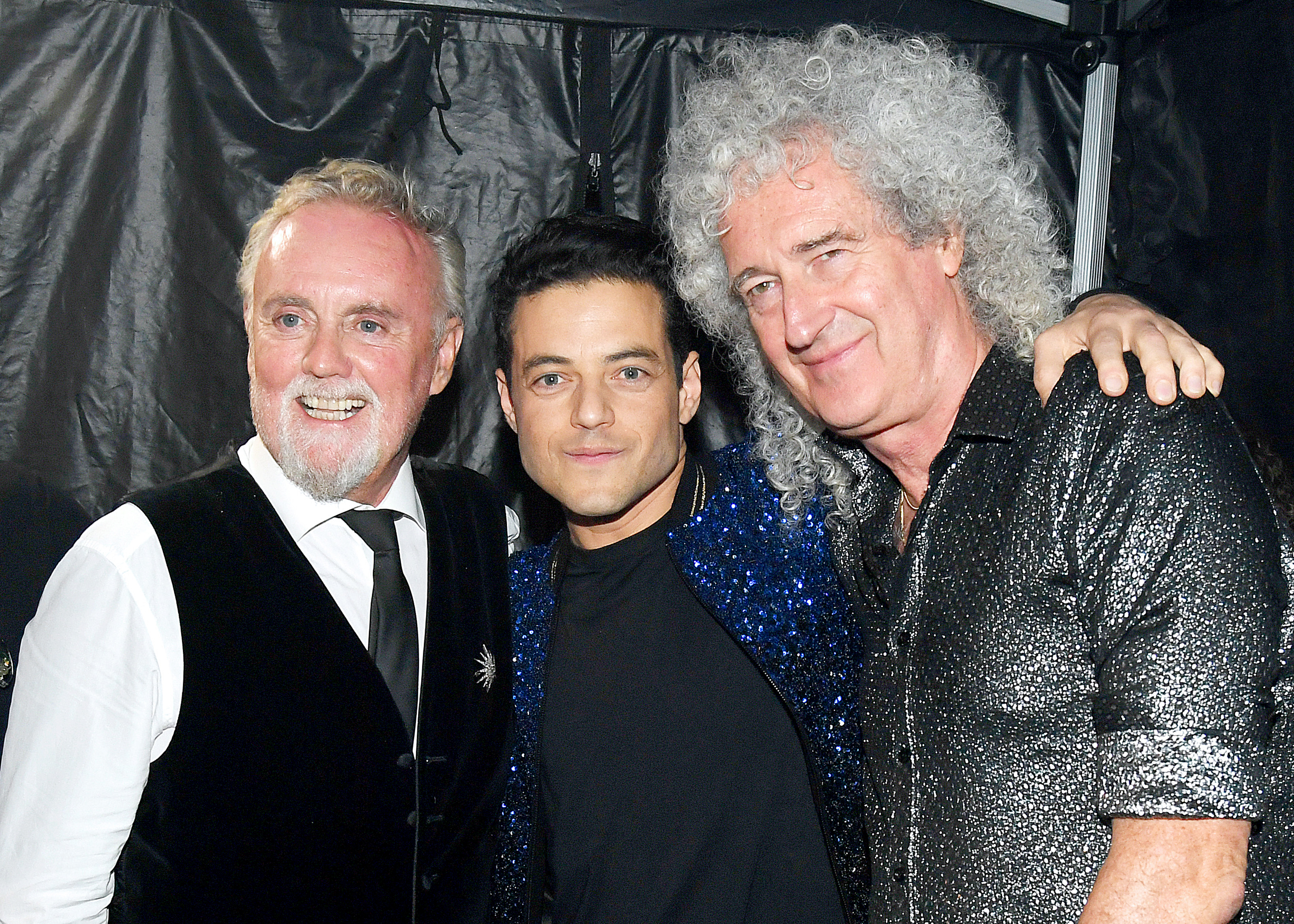 NEW YORK, NEW YORK - SEPTEMBER 28: Roger Taylor, Rami Malek, and Brian May attend the 2019 Global Citizen Festival: Power The Movement in Central Park on September 28, 2019 in New York City. (Photo by Kevin Mazur/Getty Images for Global Citizen)