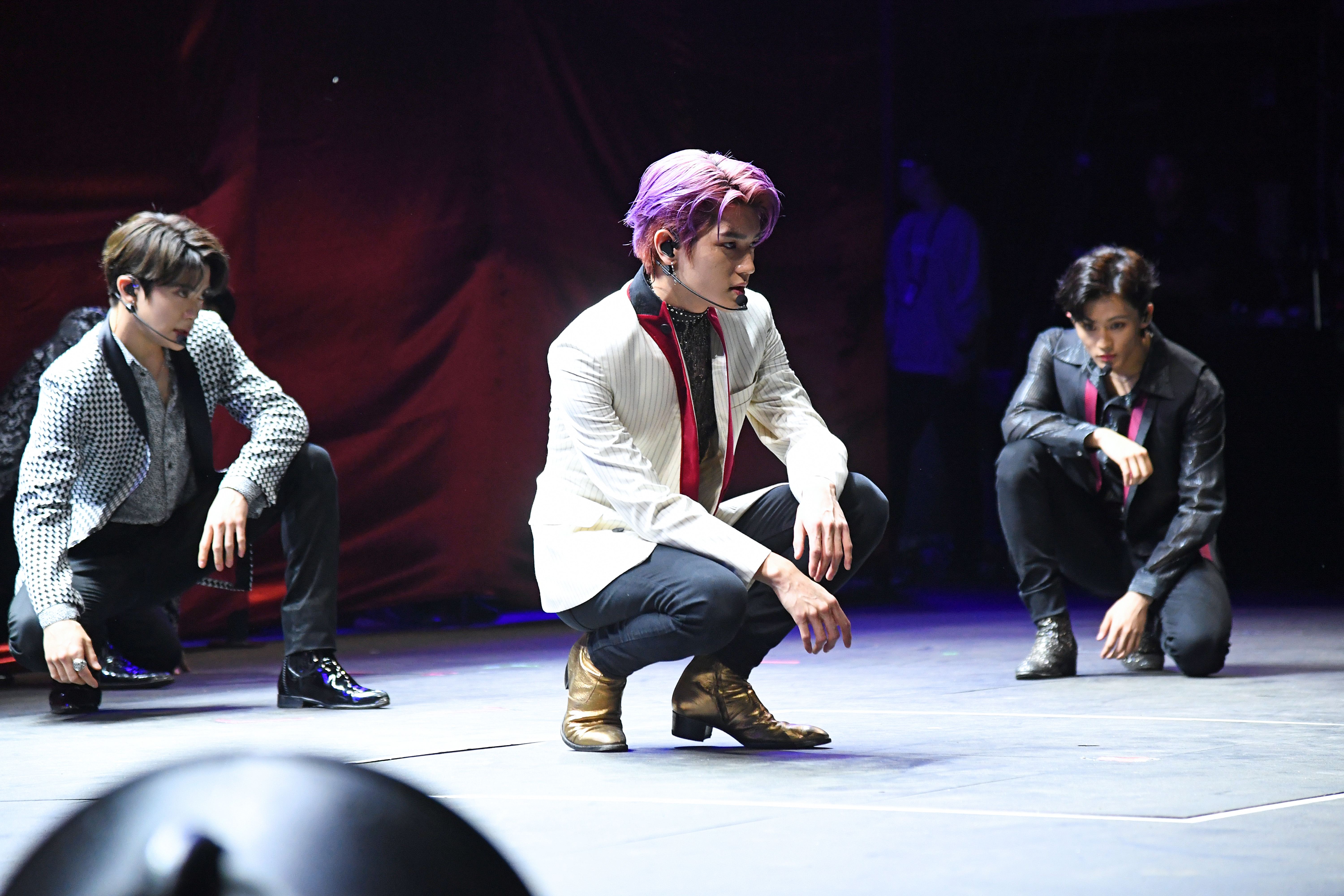 NEW YORK, NEW YORK - SEPTEMBER 28:  (L-R) Jaehyun, Taeyong, and Mark of NCT 127 perform onstage during the 2019 Global Citizen Festival: Power The Movement in Central Park on September 28, 2019 in New York City. (Photo by Kevin Mazur/Getty Images for Global Citizen)
