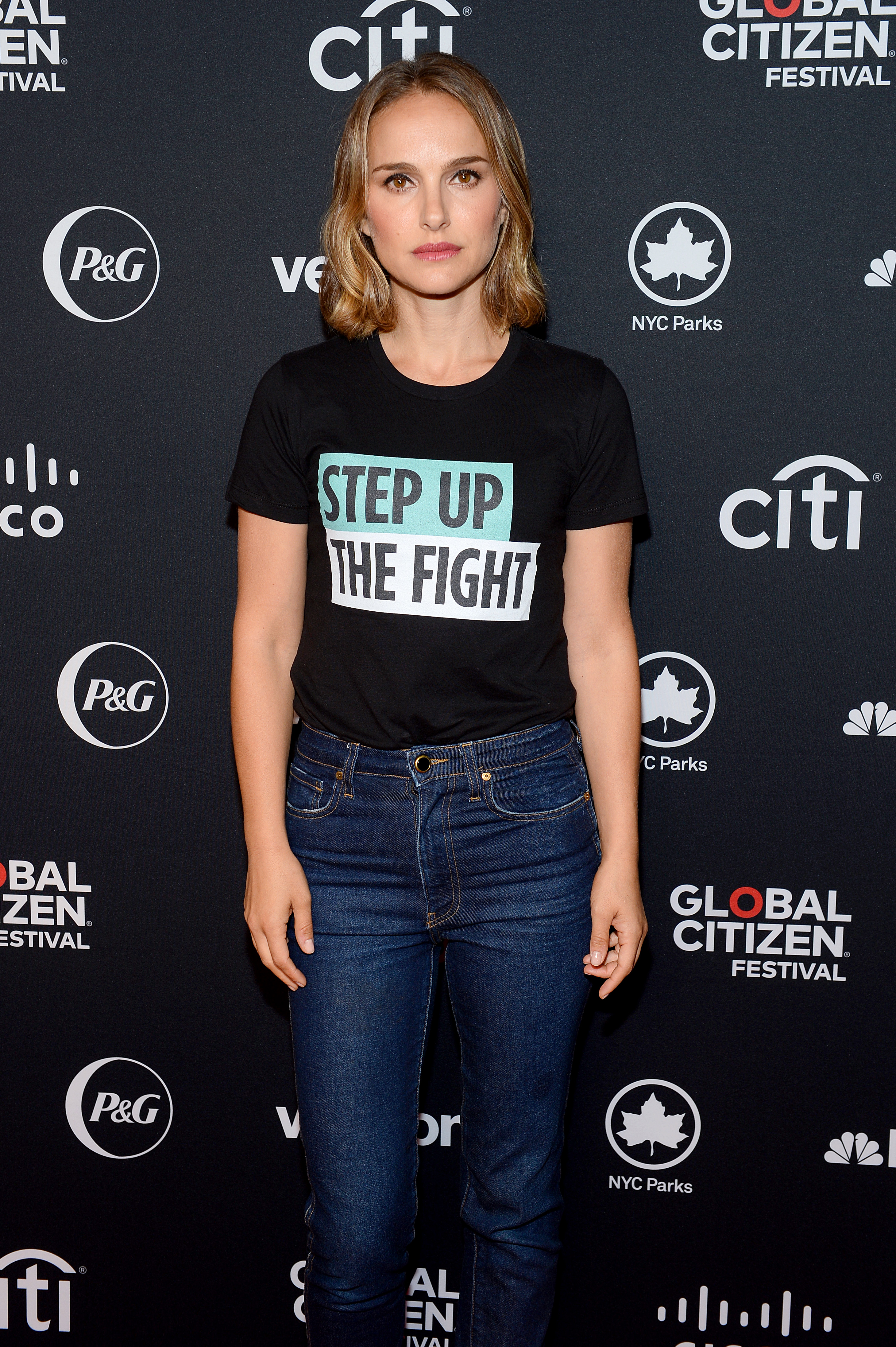NEW YORK, NEW YORK - SEPTEMBER 28: Natalie Portman attends the 2019 Global Citizen Festival: Power The Movement in Central Park on September 28, 2019 in New York City. (Photo by Noam Galai/Getty Images for Global Citizen)