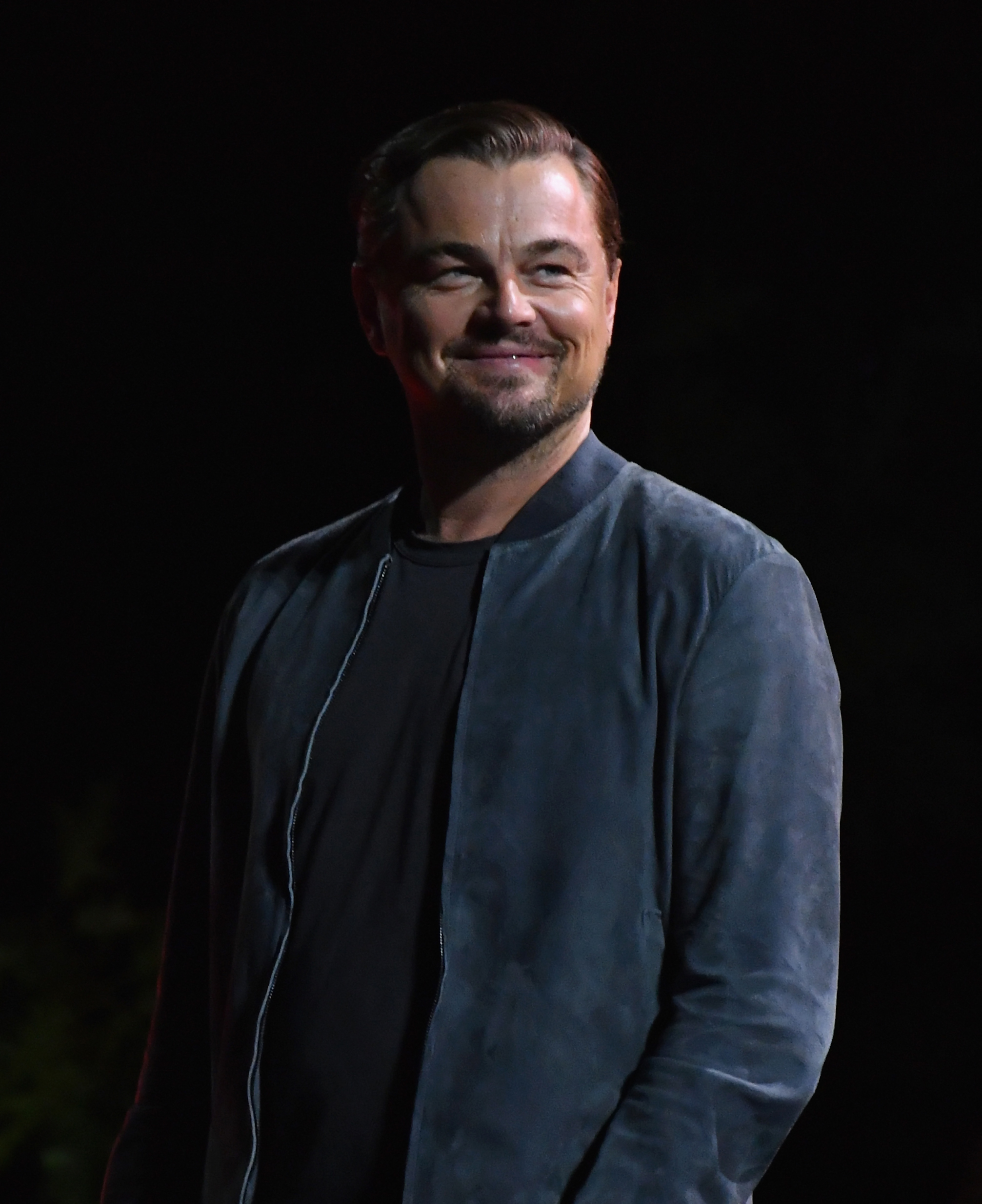 US actor Leonardo DiCaprio smiles as he speaks onstage at the 2019 Global Citizen Festival: Power The Movement in Central Park in New York on September 28, 2019. (Photo by Angela Weiss / AFP)        (Photo credit should read ANGELA WEISS/AFP/Getty Images)